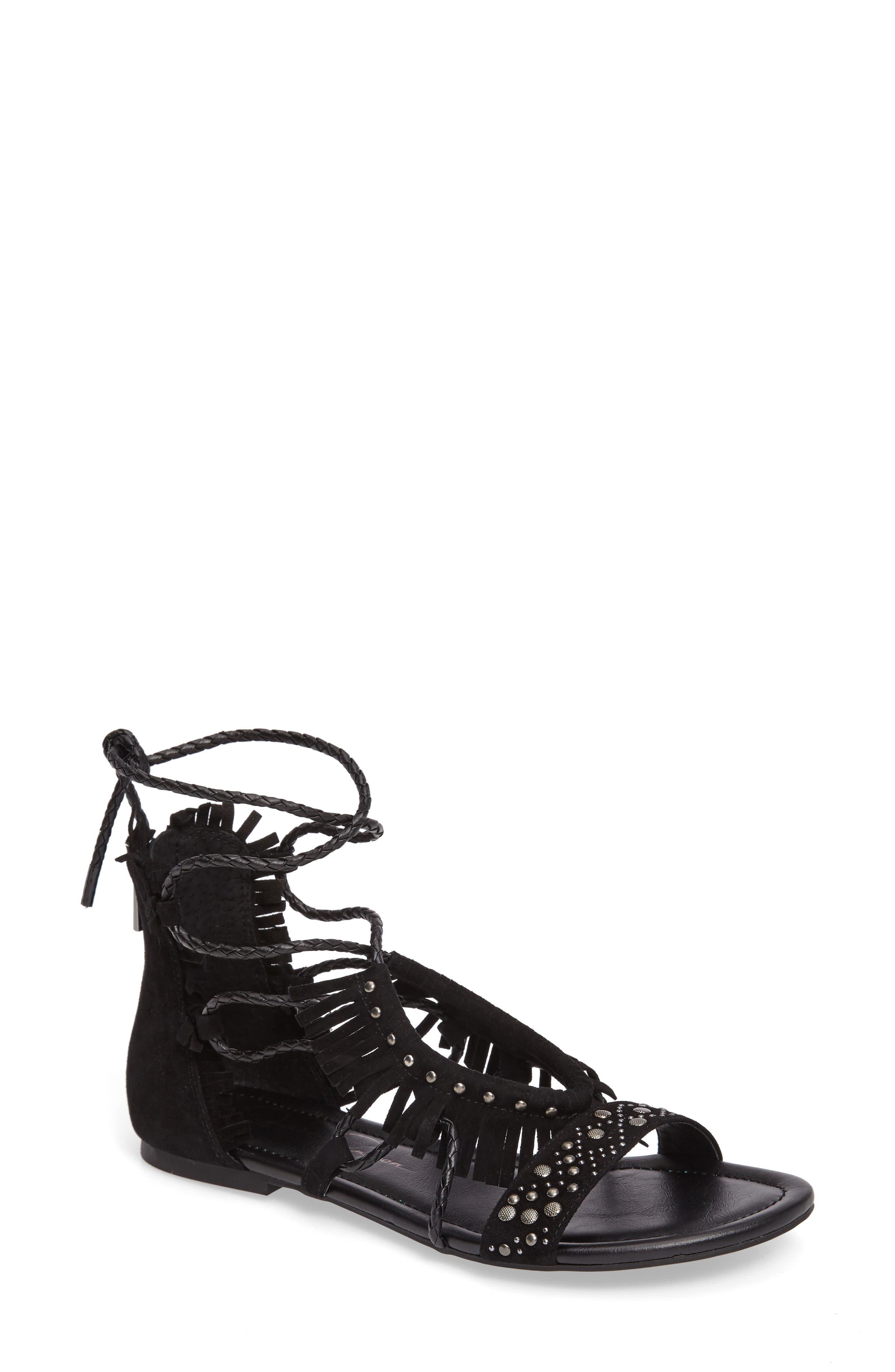 JESSICA SIMPSON Kylea Studded Fringe Sandal