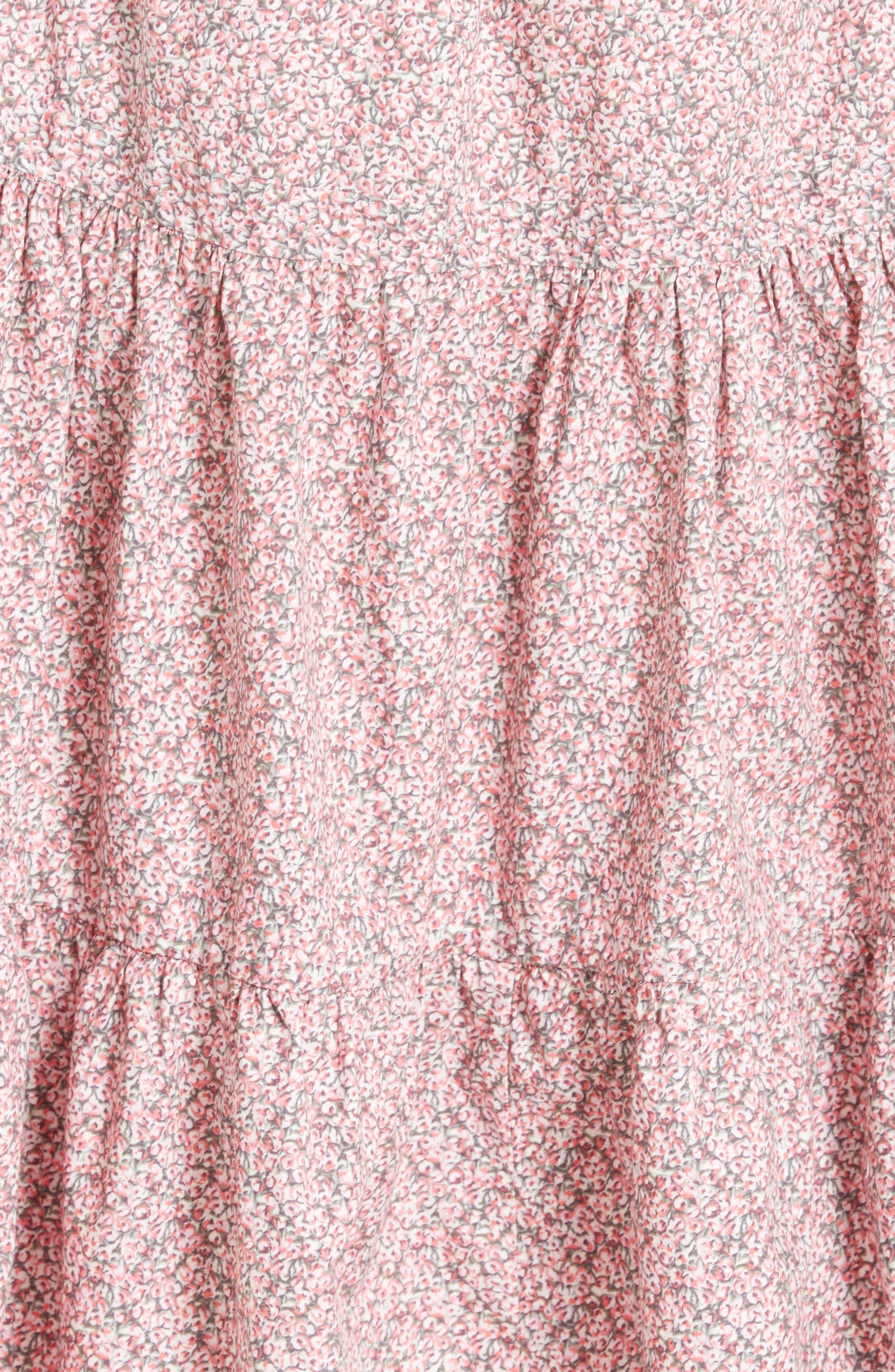 Alternate Image 5  - La Vie Rebecca Taylor Meadow Floral Tie Back Tiered Sundress