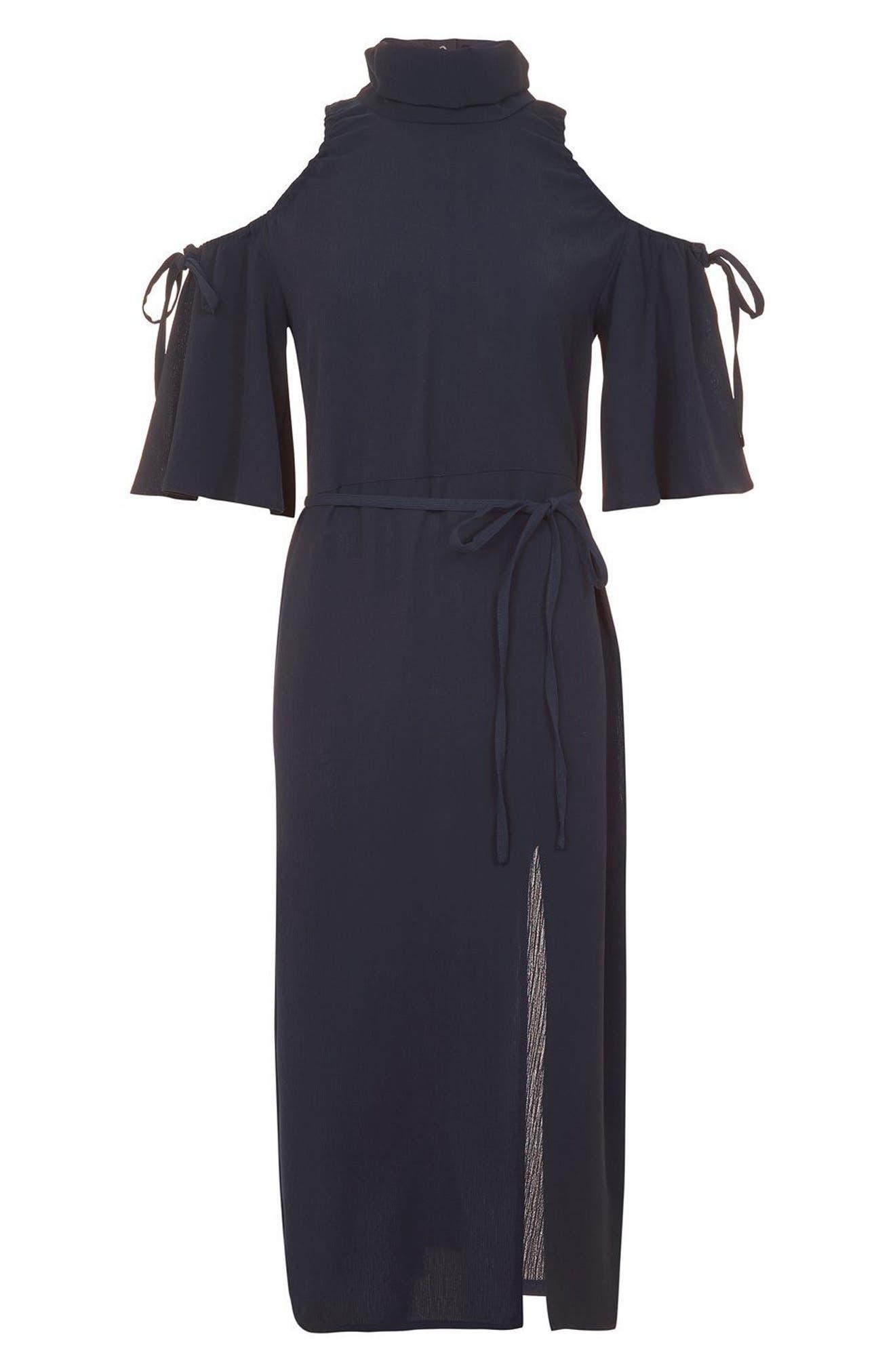 Alternate Image 4  - Topshop High Neck Cold Shoulder Dress
