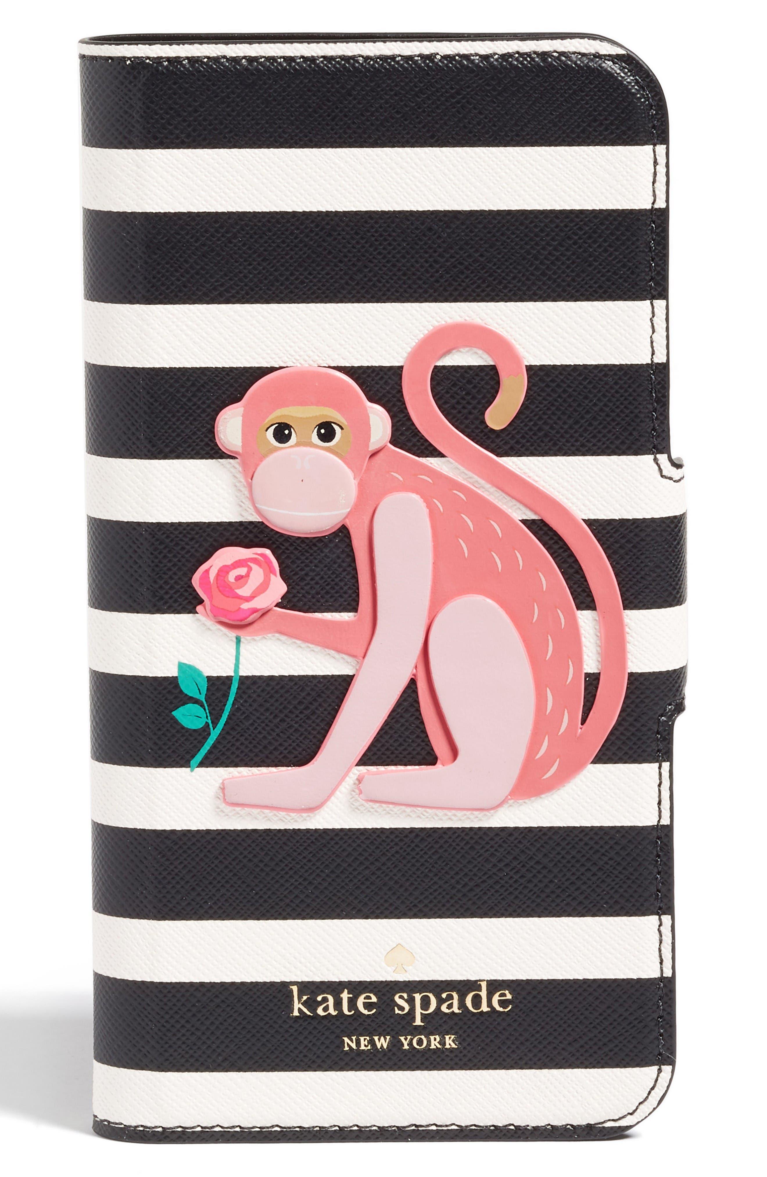 KATE SPADE NEW YORK monkey appliqué iPhone 7