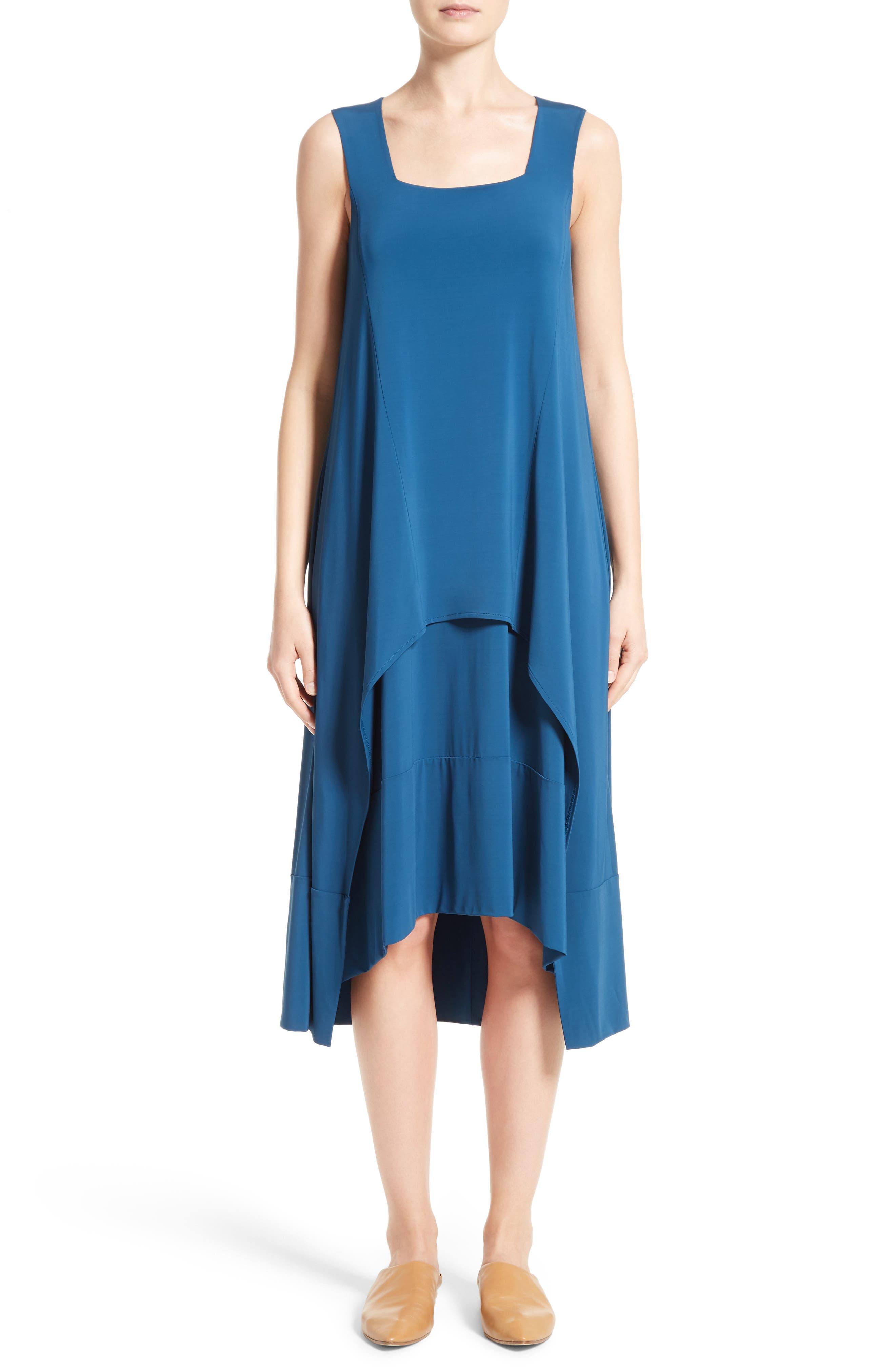 Lafayette 148 New York Crepe Jersey Popover Dress