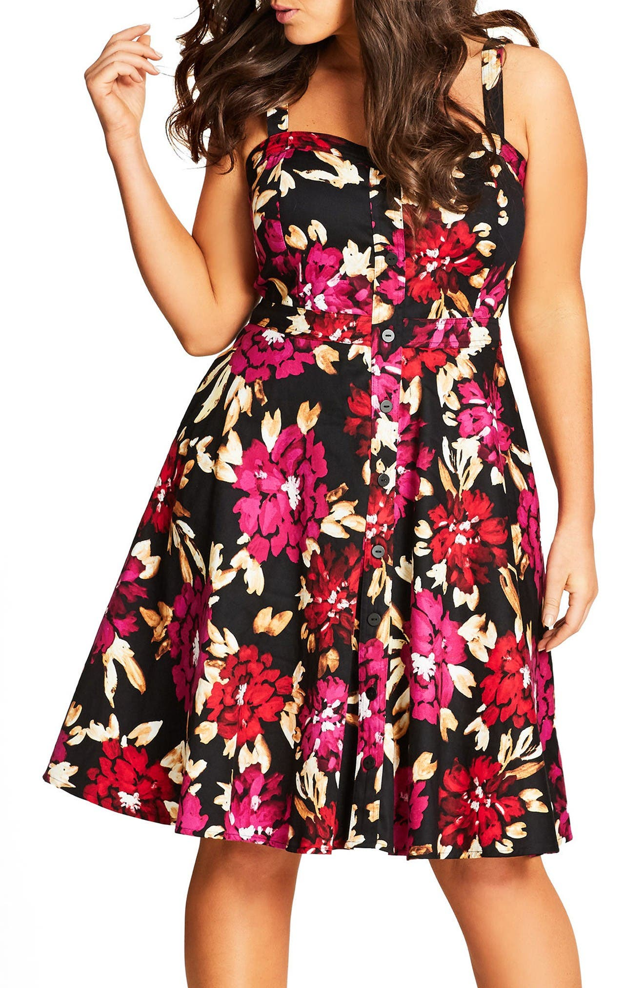 CITY CHIC Vintage Painted Sundress