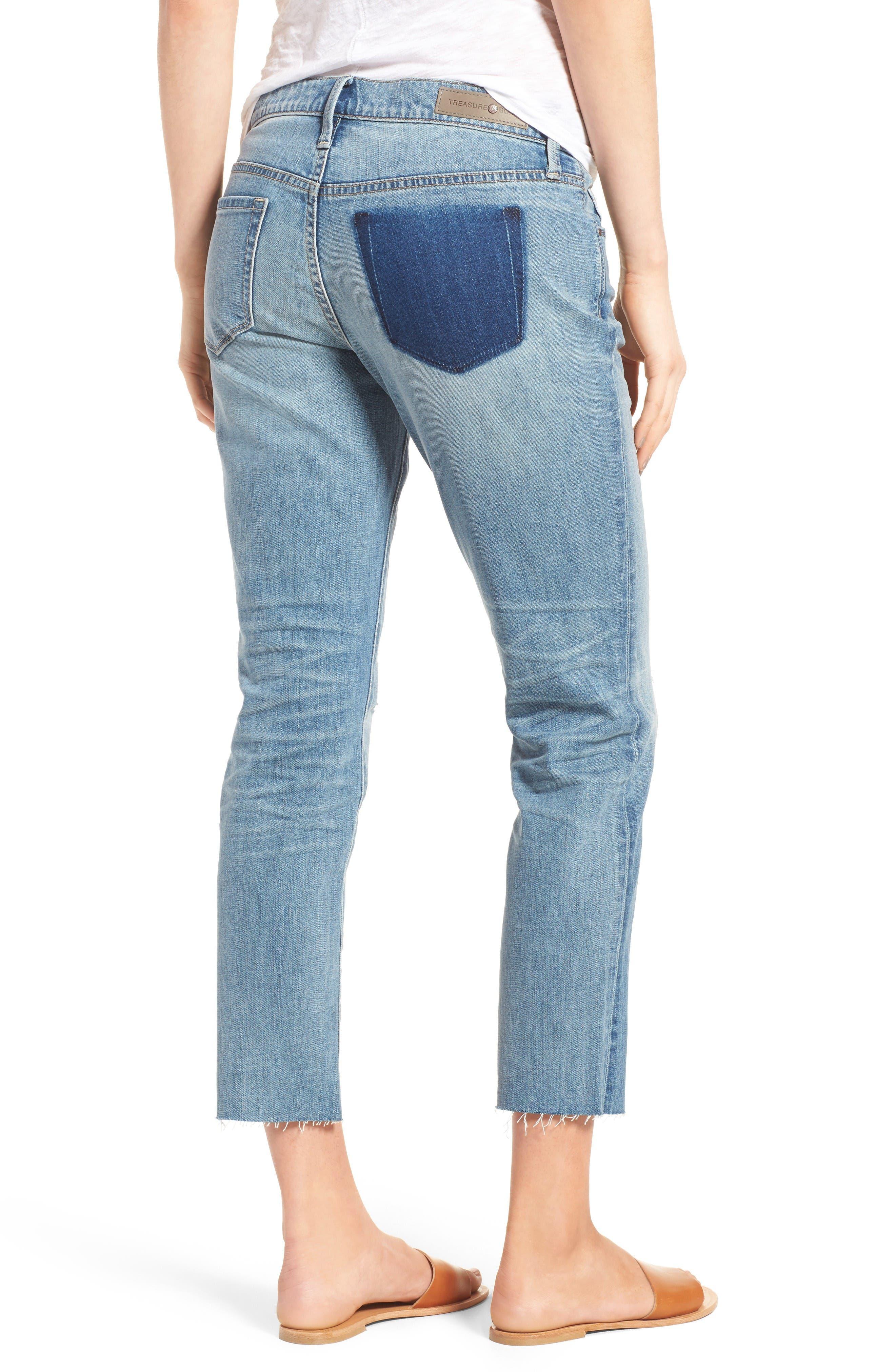 Alternate Image 3  - Treasure & Bond Skinny Boyfriend Jeans (Gravel Medium Remade)