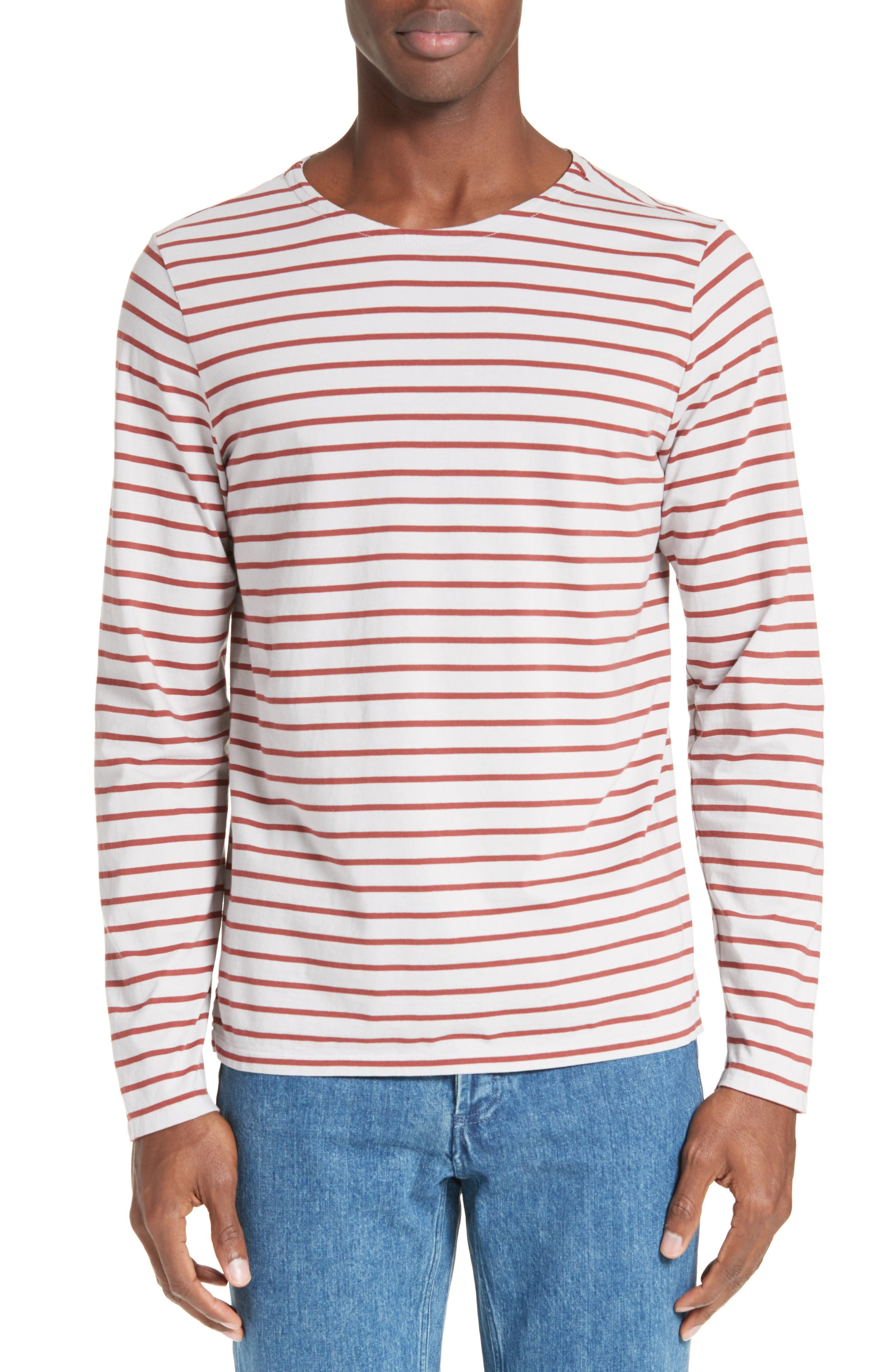 A.P.C. Joey Stripe Long Sleeve T-Shirt