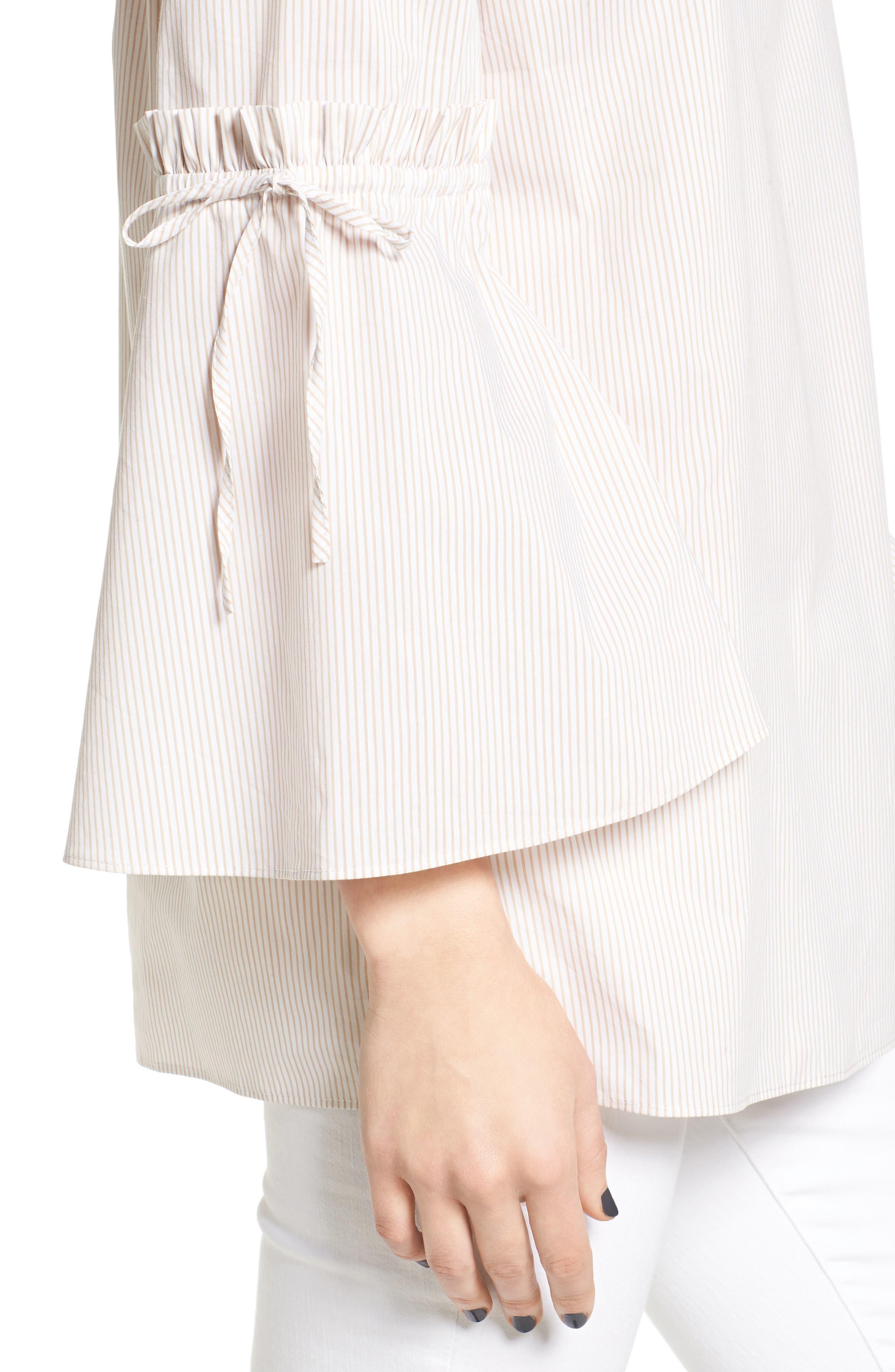 Alternate Image 4  - Chelsea28 Stripe Off the Shoulder Poplin Blouse