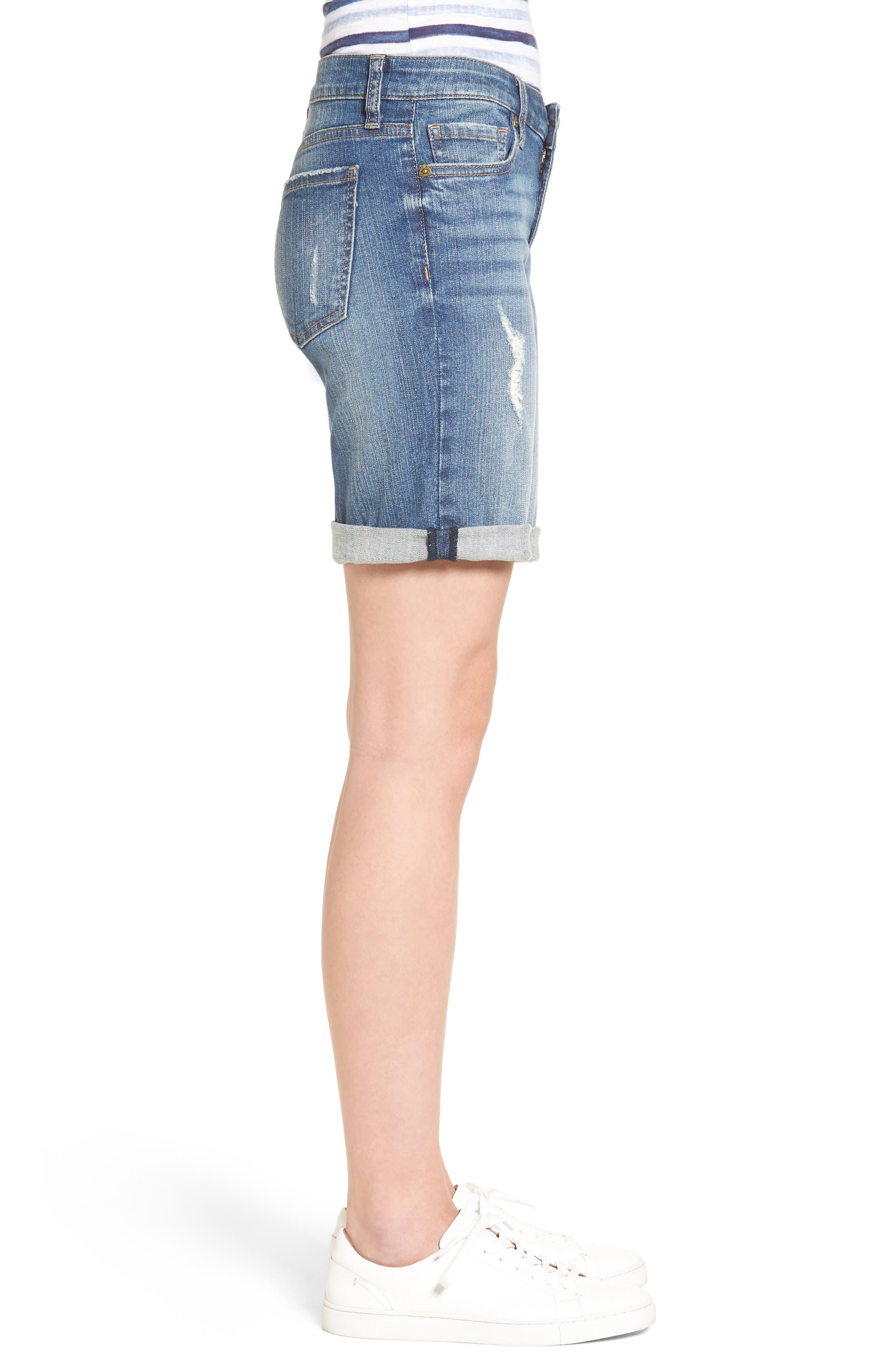 Alternate Image 3  - KUT from the Kloth Catherine Distressed Denim Boyfriend Shorts