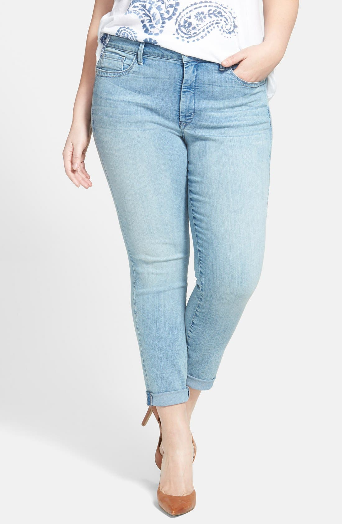 Alternate Image 1 Selected - NYDJ 'Annabelle' Stretch Boyfriend Jeans (Manhattan) (Plus Size)