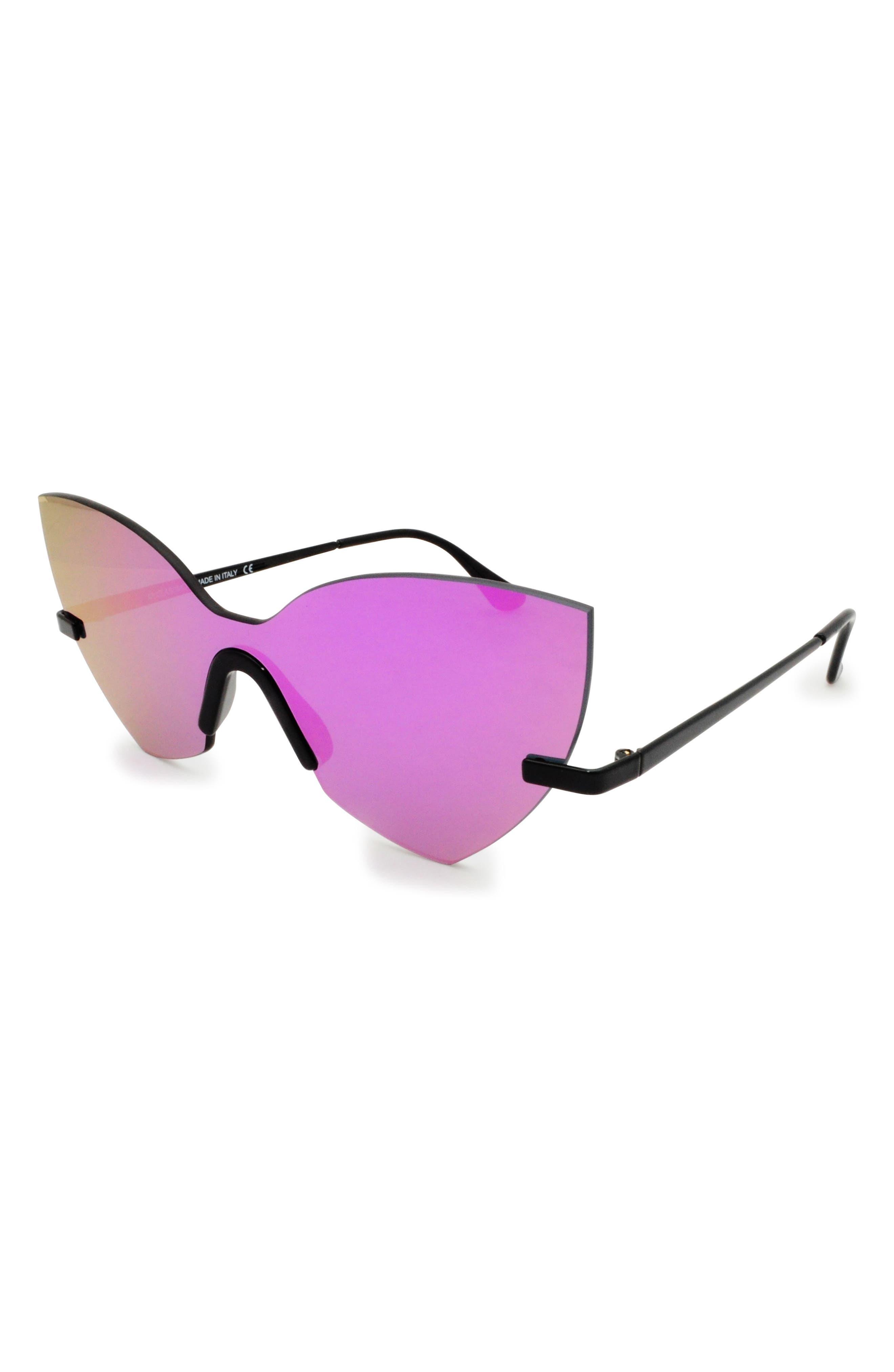 Alternate Image 2  - GLASSING 55mm Cat Eye Shield Sunglasses