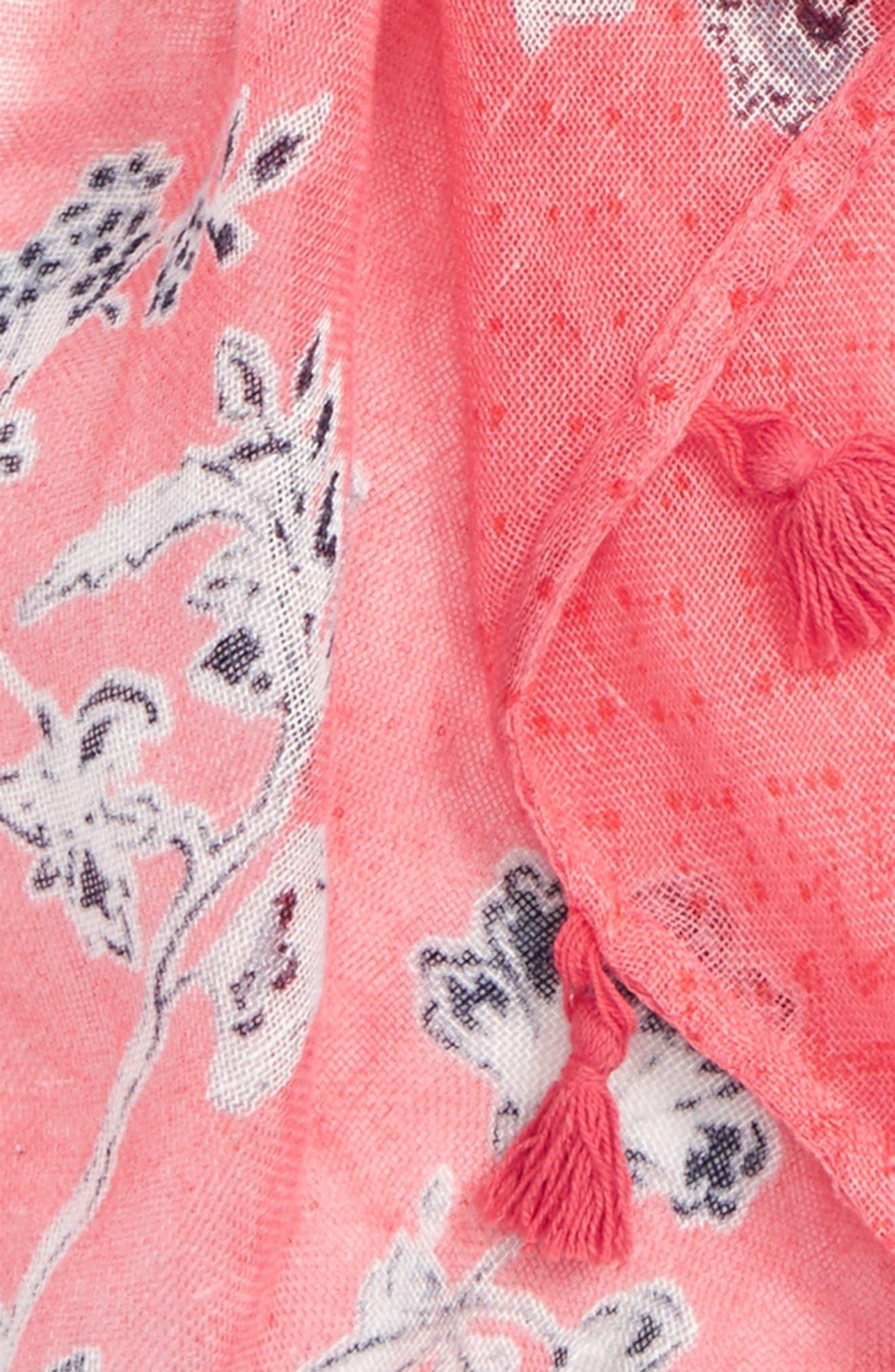 Alternate Image 3  - Caslon® Floral Tides Tassel Scarf