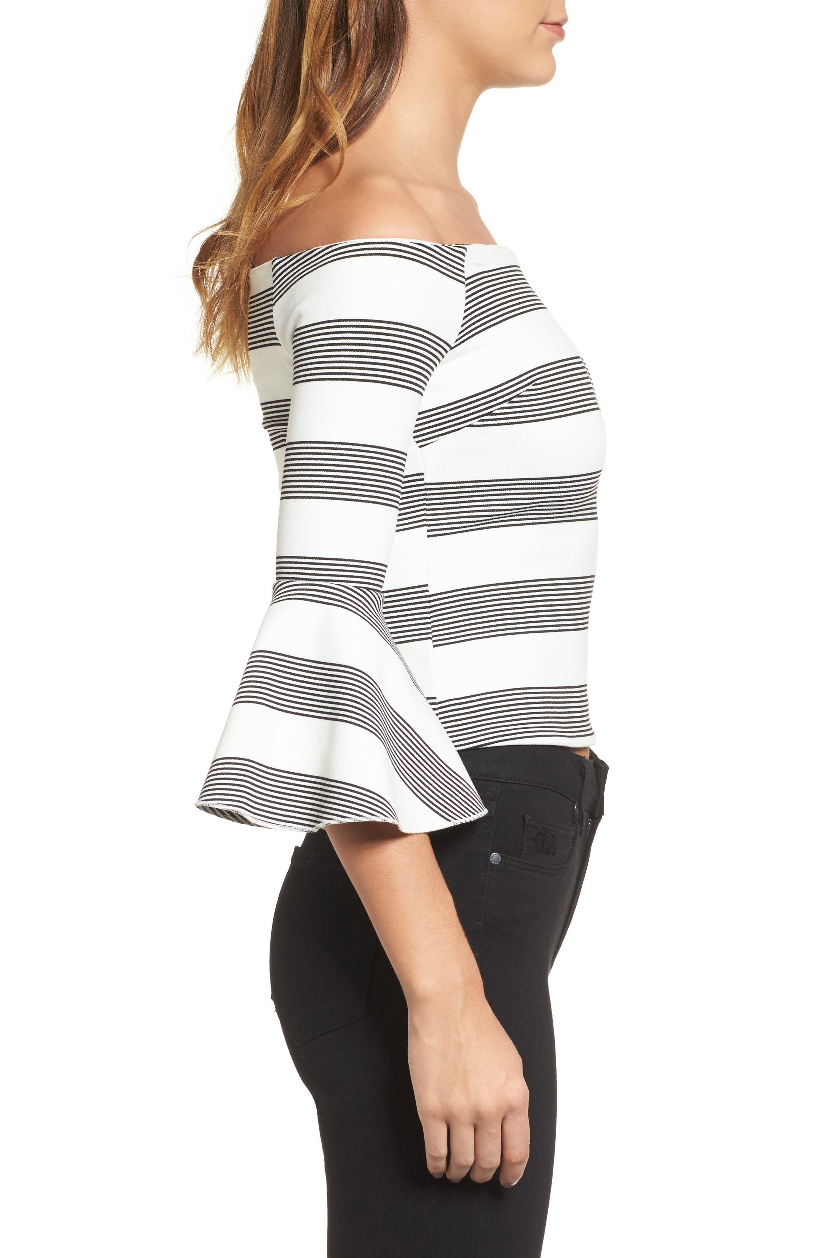 Alternate Image 3  - Line & Dot Ella Off the Shoulder Top
