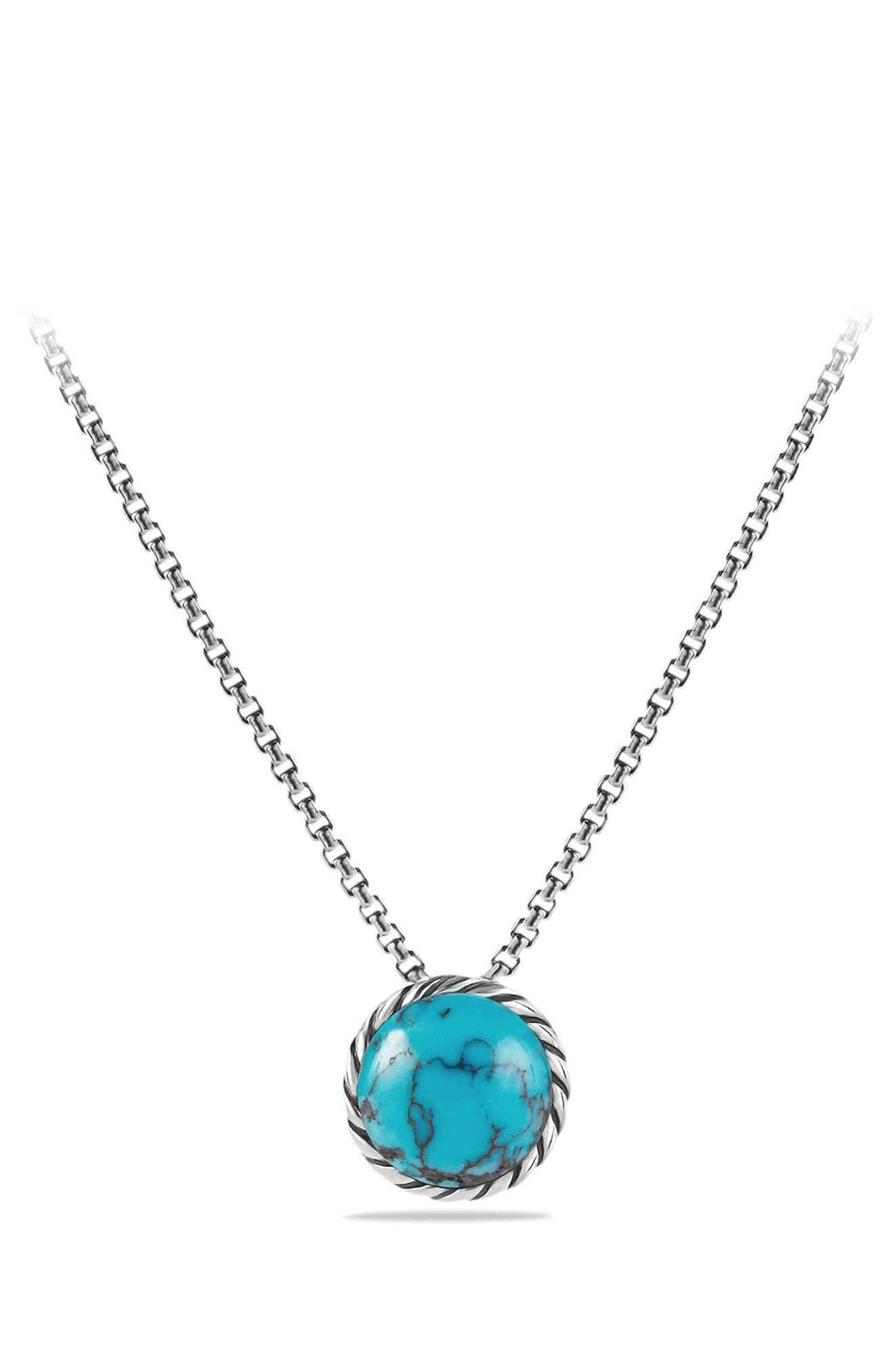 David Yurman'Châtelaine' Necklace with Gold Dome and 18K Gold