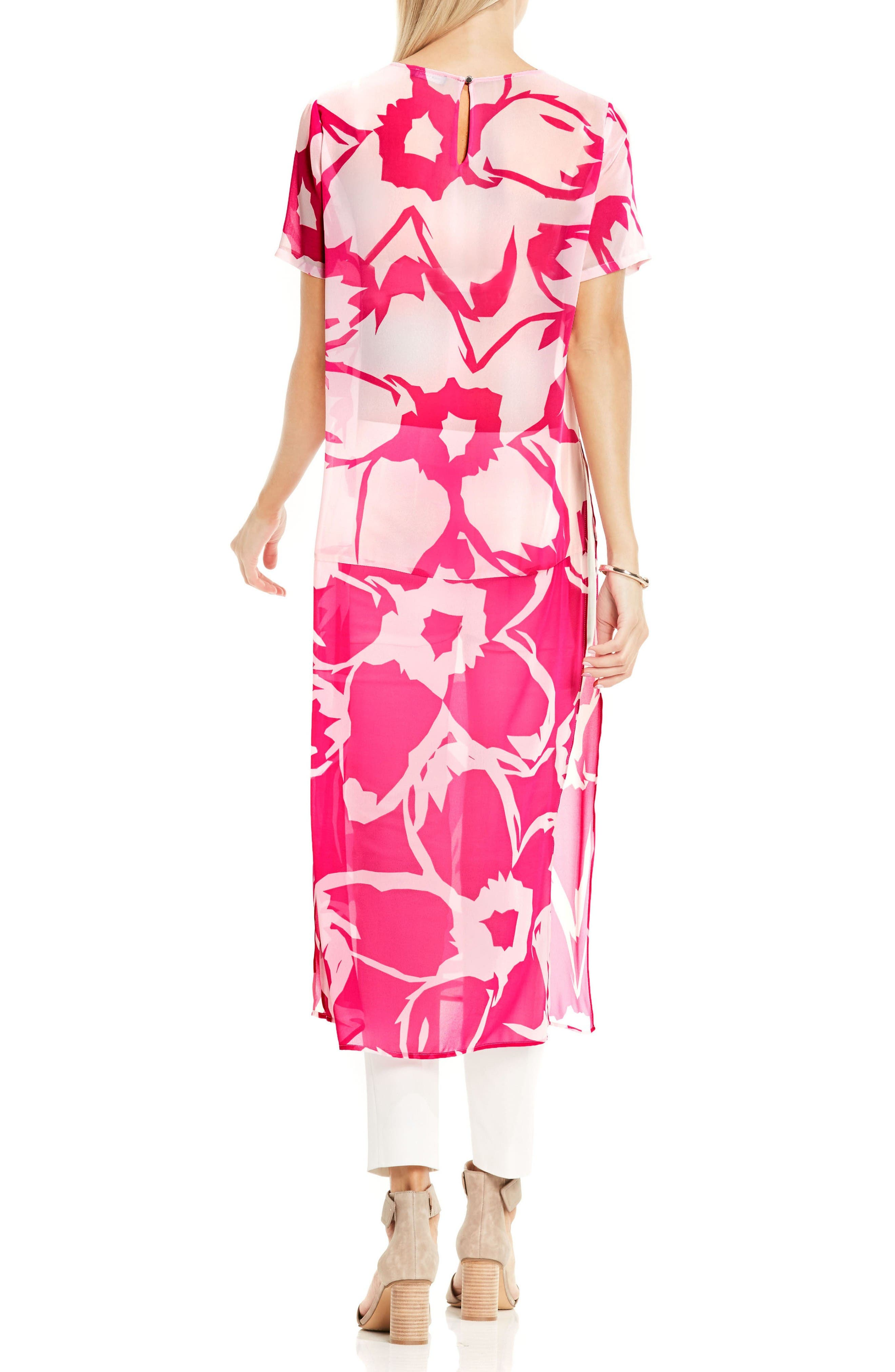 Alternate Image 2  - Vince Camuto Floral Print Tunic
