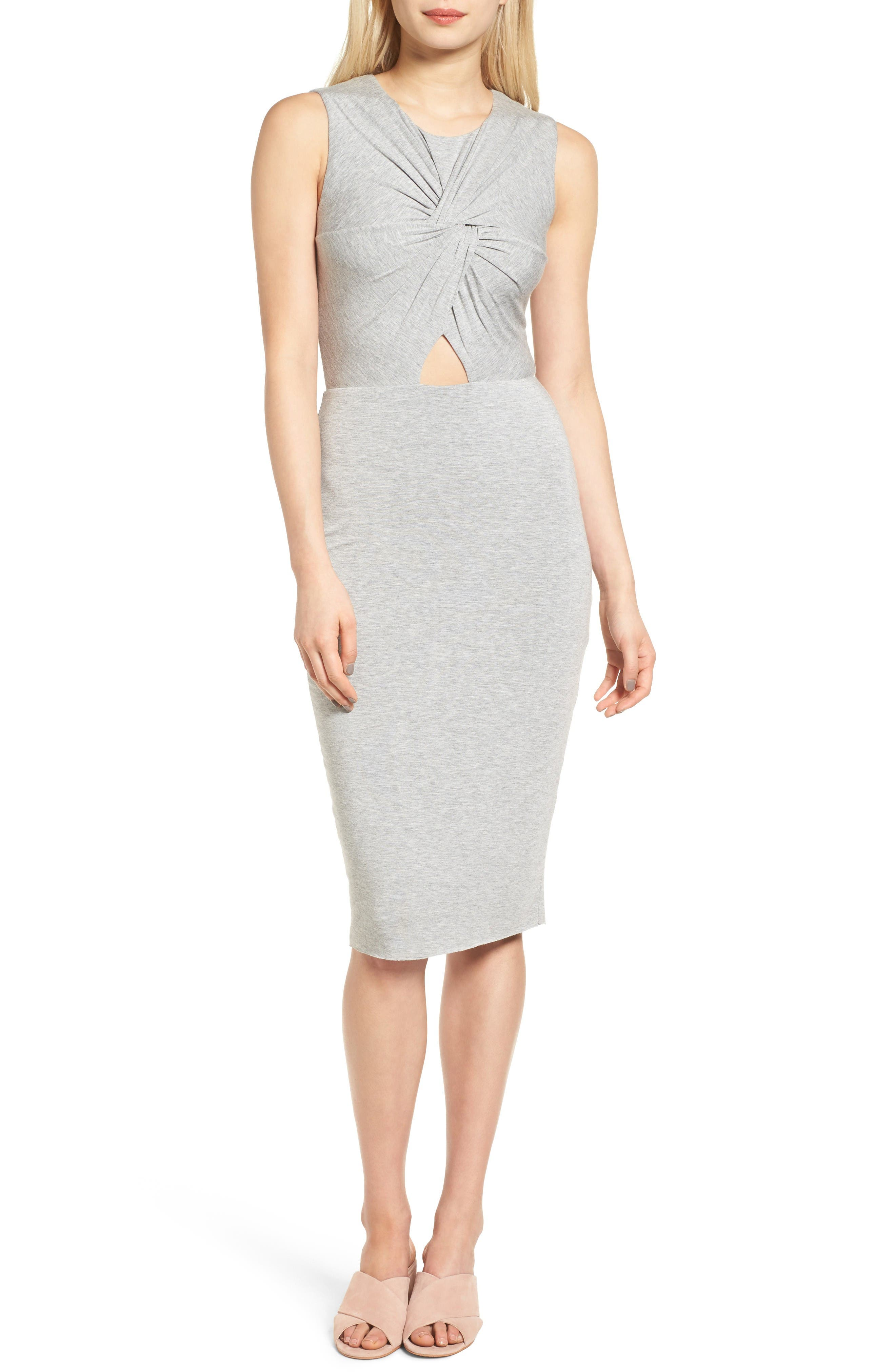 Bailey 44 Twist Front Midi Dress