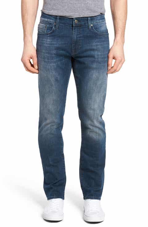 Mavi Jeans Zach Straight Leg Jeans (Dark Foggy Williamsburg)