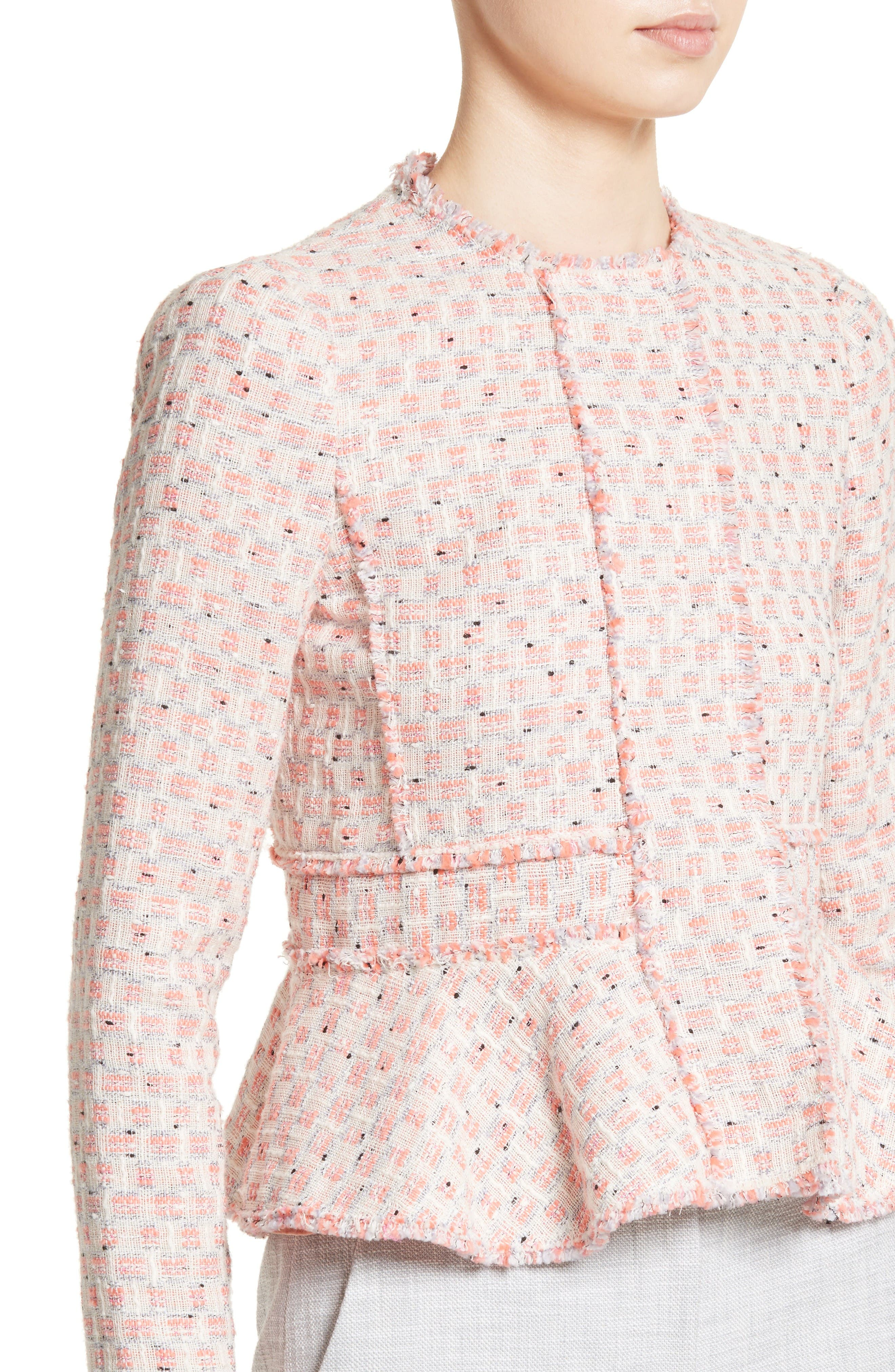 Alternate Image 4  - Rebecca Taylor Tweed Peplum Jacket