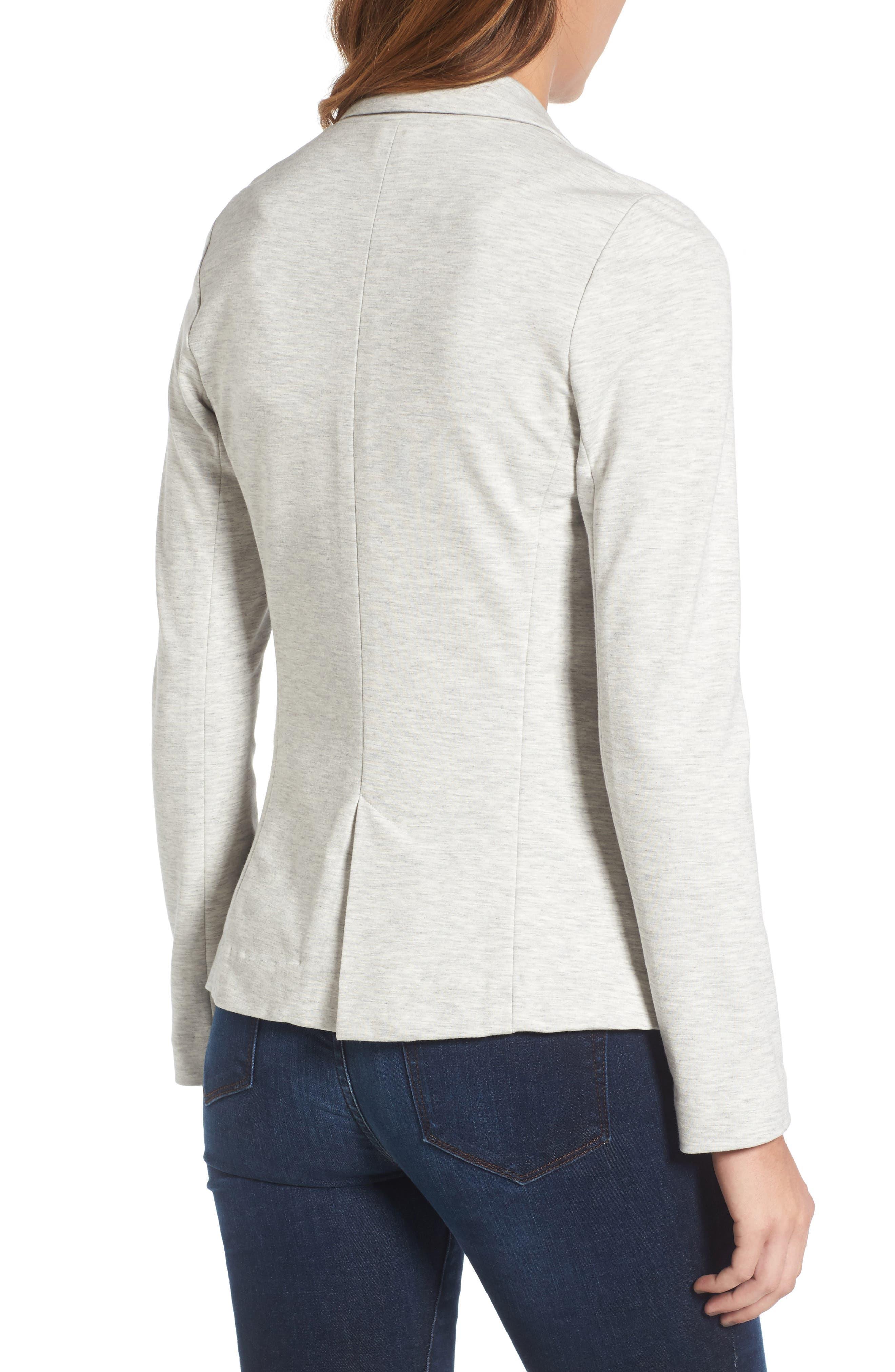 Alternate Image 2  - Olivia Moon Knit Blazer (Regular & Petite)