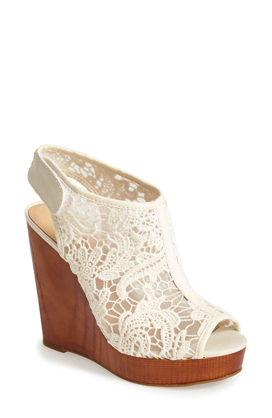 Alternate Image 1 Selected - Lucky Brand 'Rezdah' Wedge Platform Sandal (Women)