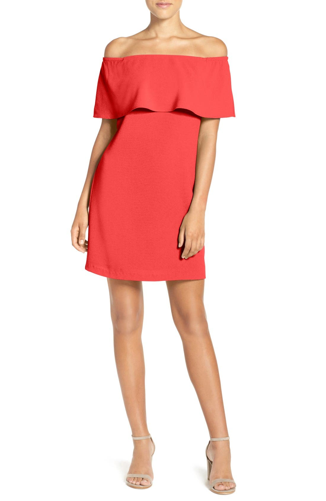 Charles Henry Off the Shoulder Dress (Regular & Petite)