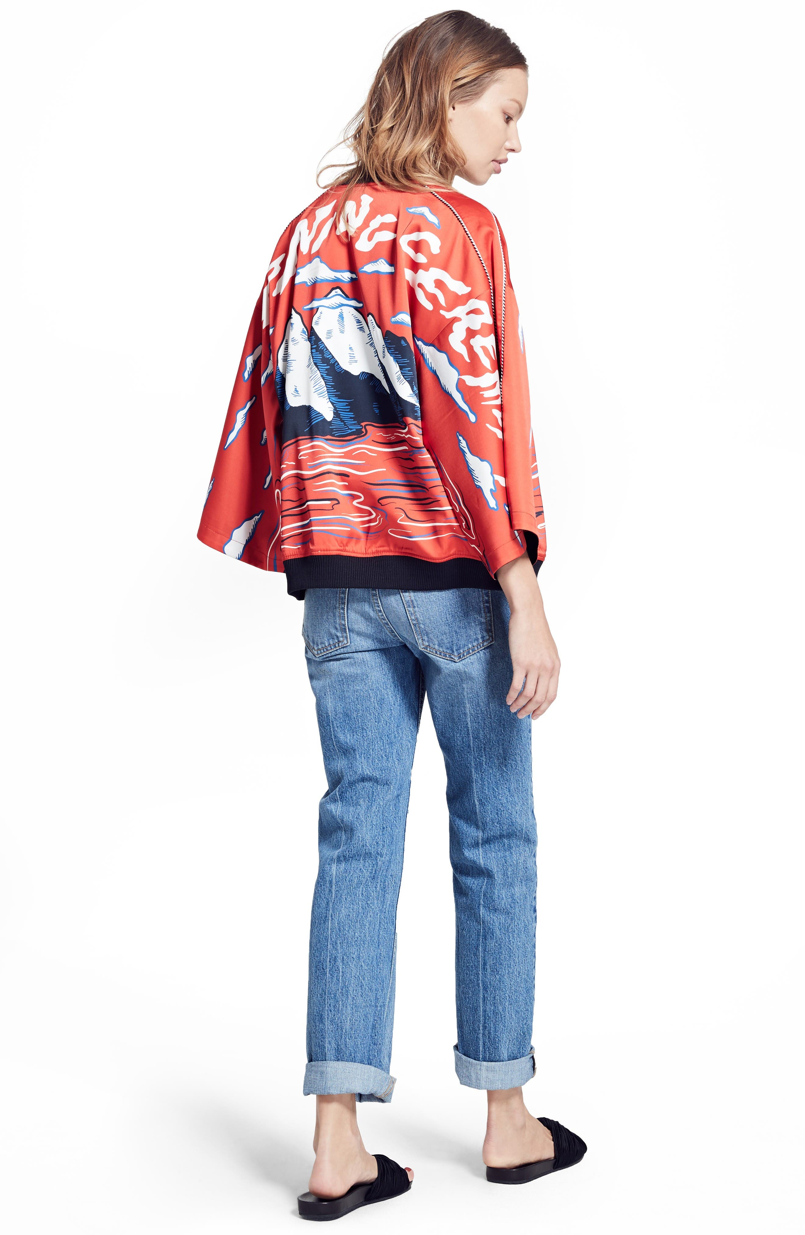Opening Ceremony Bomber, Tee & Jeans Outfit with Accessories
