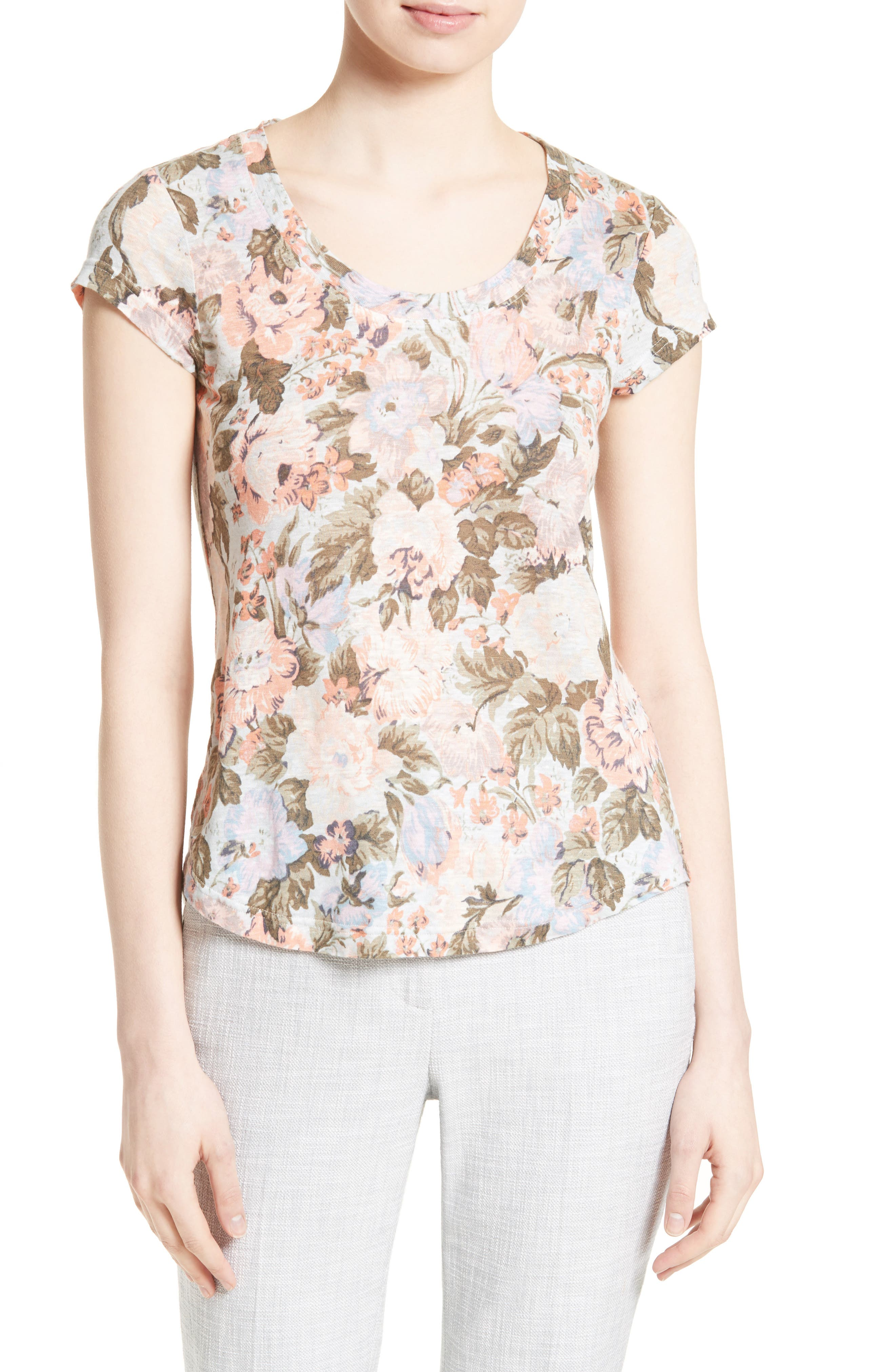 REBECCA TAYLOR Penelope Floral Jersey Tee