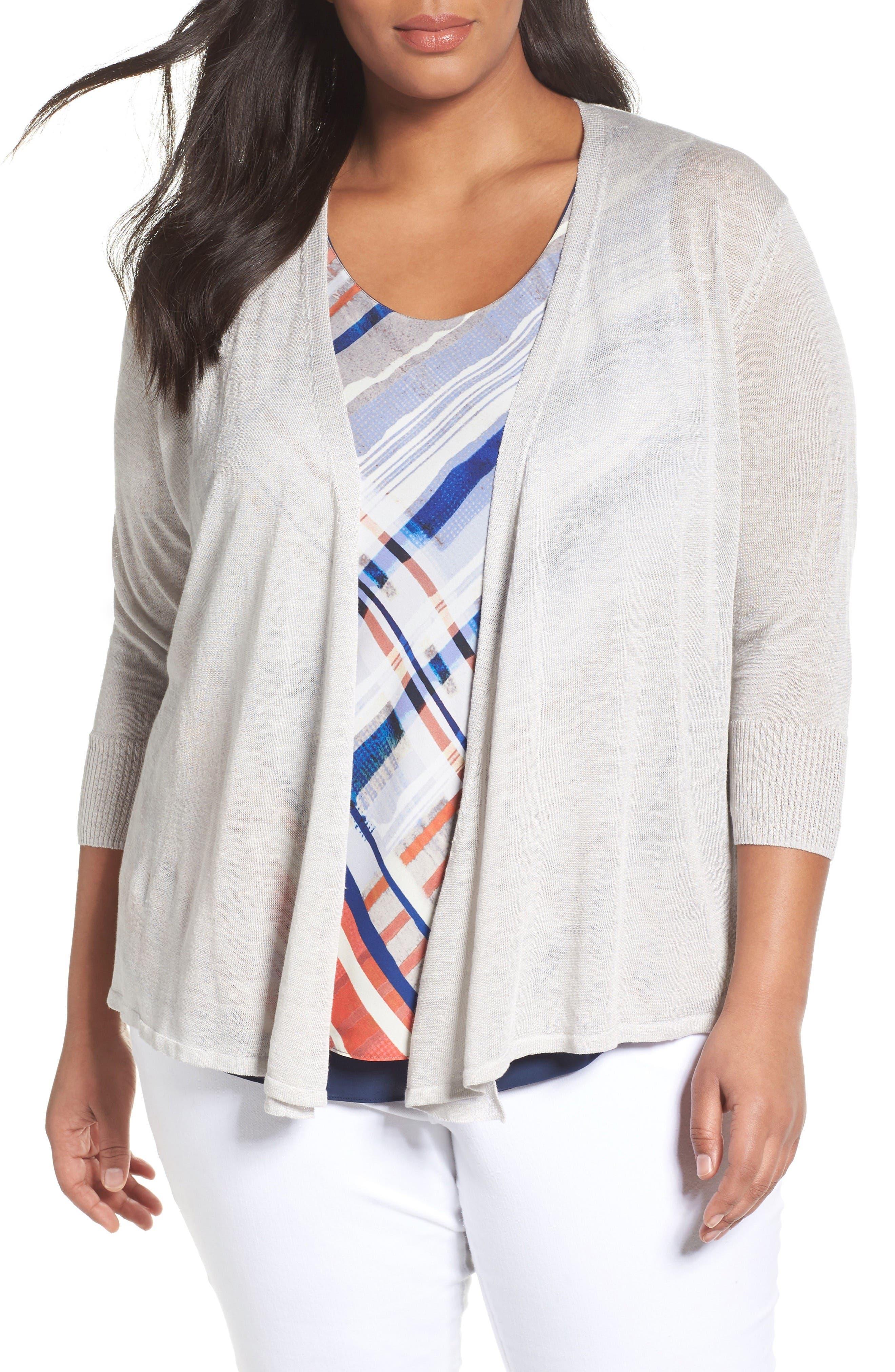 NIC+ZOE Four-Way Convertible Cardigan (Plus Size)