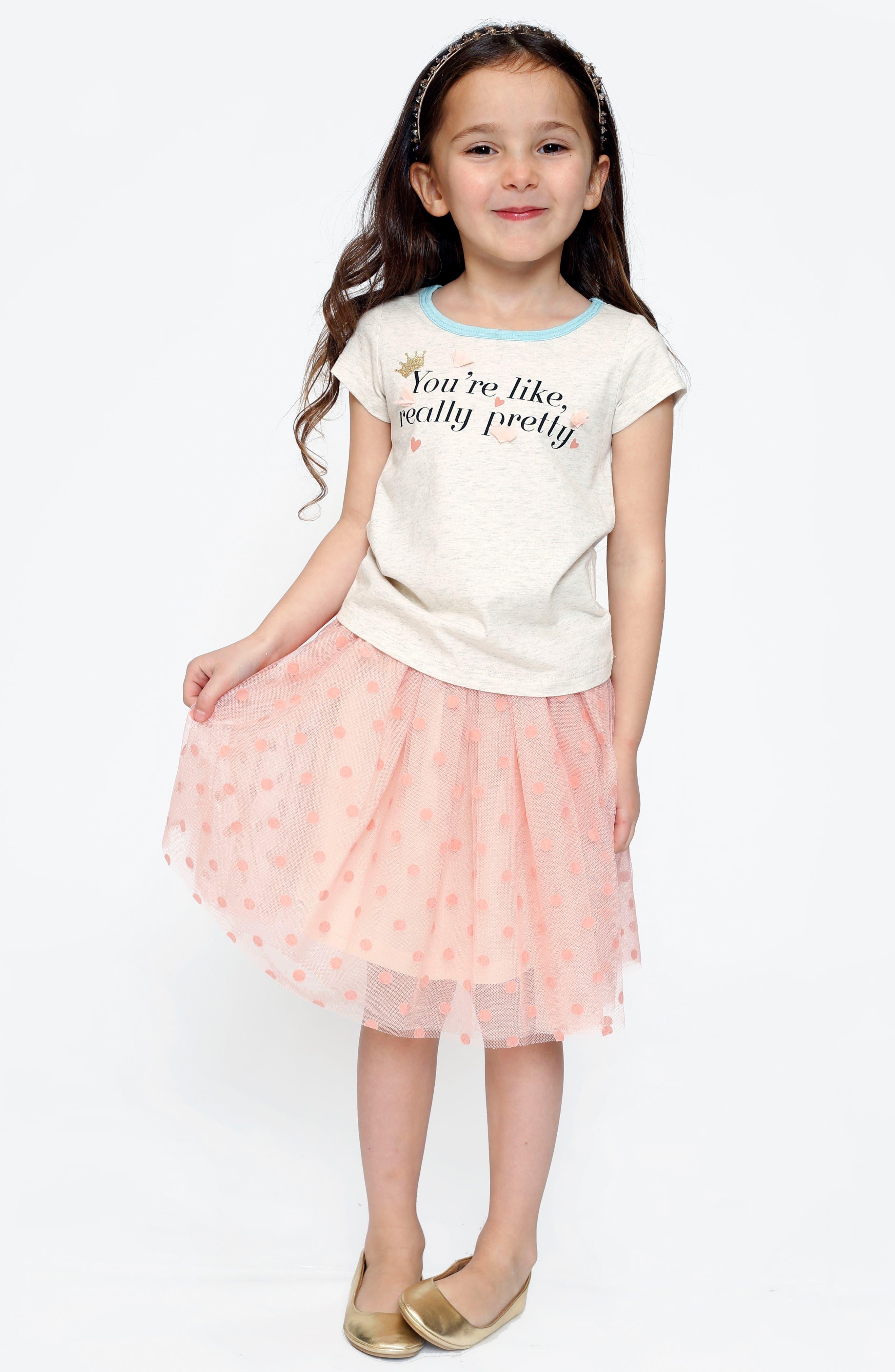 Alternate Image 3  - Truly Me Polka Dot Tutu Skirt (Toddler Girls & Little Girls)