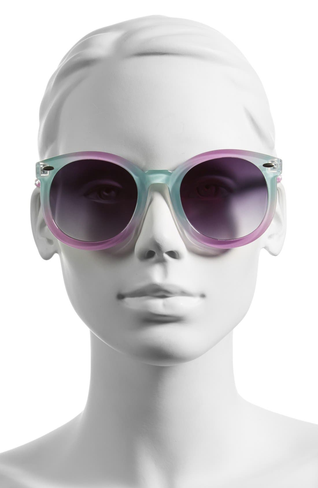Alternate Image 2  - Tildon 55mm Pastel Round Sunglasses