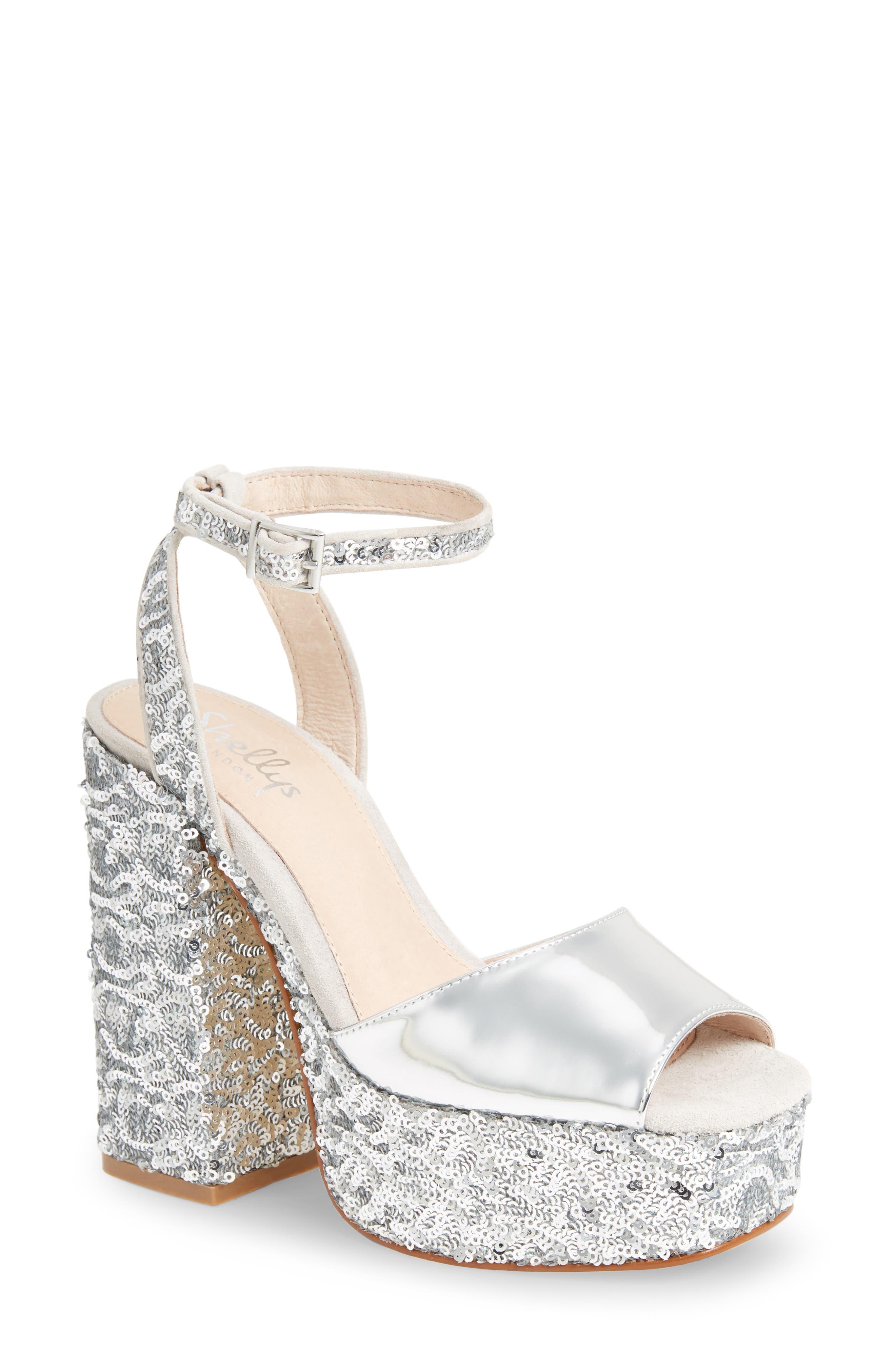 Alternate Image 1 Selected - Shellys London Dena Sequin Platform Sandal (Women)
