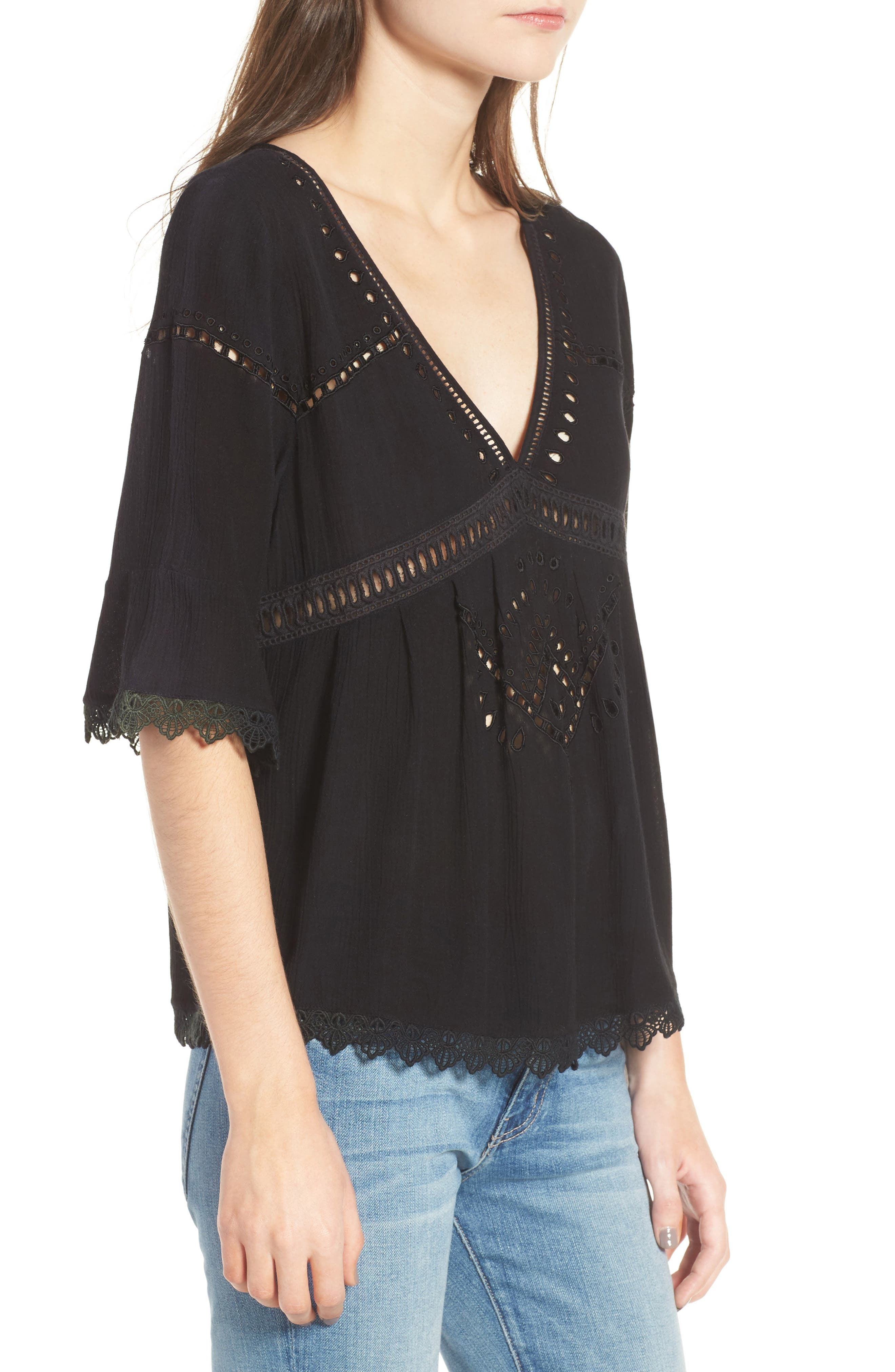 Alternate Image 3  - Ella Moss Broderie Anglaise Top
