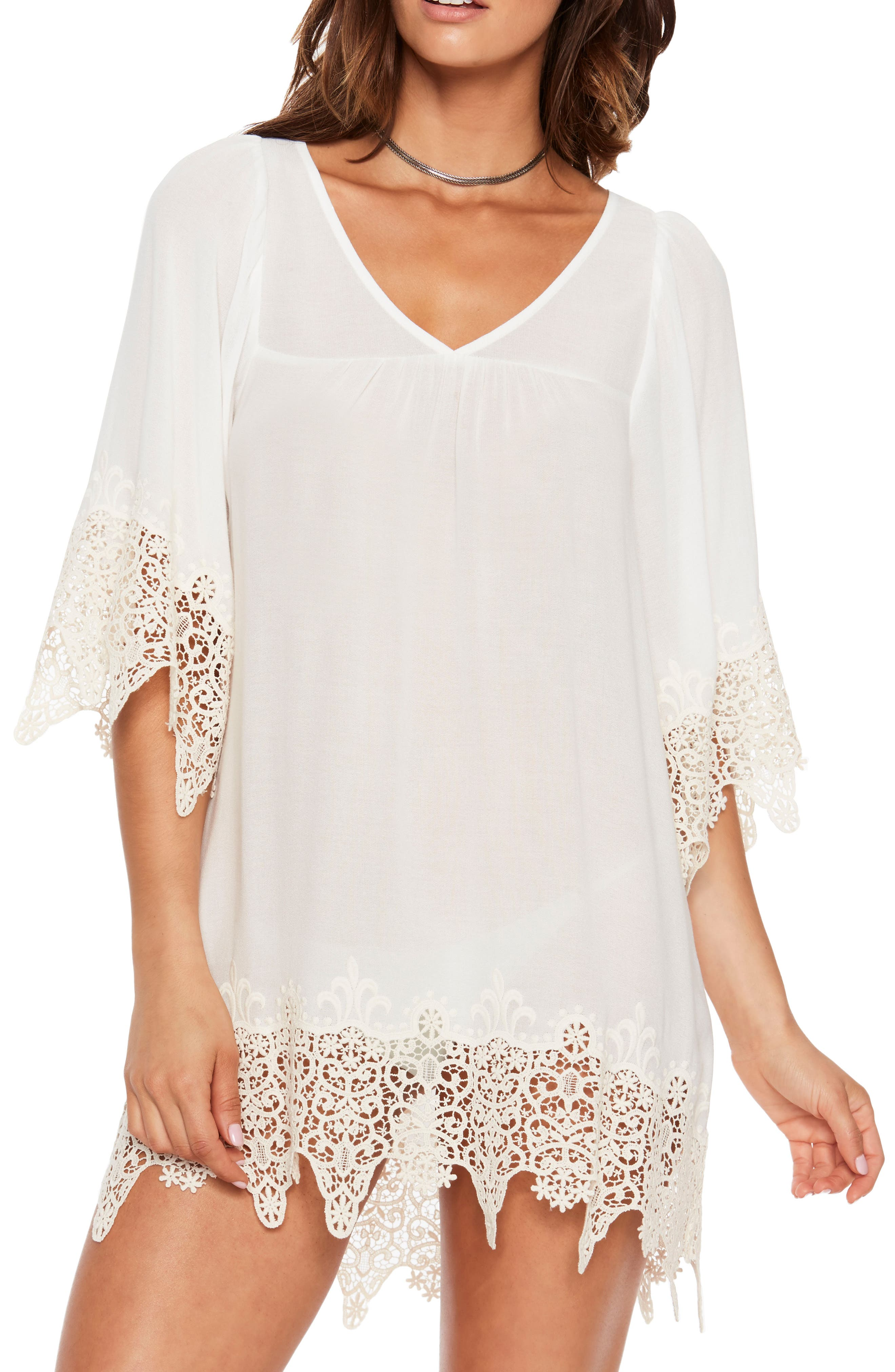 Alternate Image 3  - L Space Lace Cover-Up Tunic