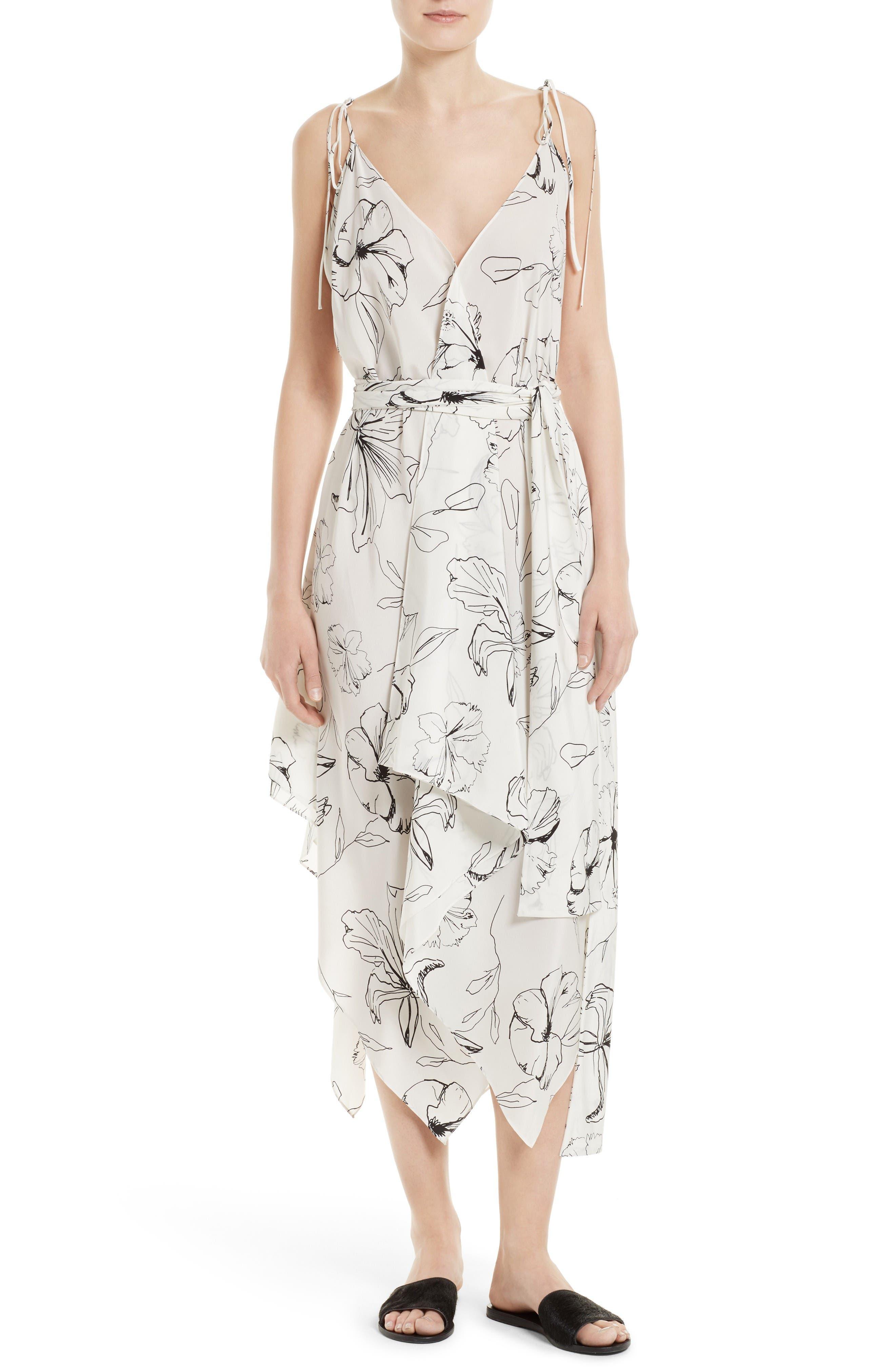 Diane von Furstenberg New Scarf Hem Silk Midi Dress