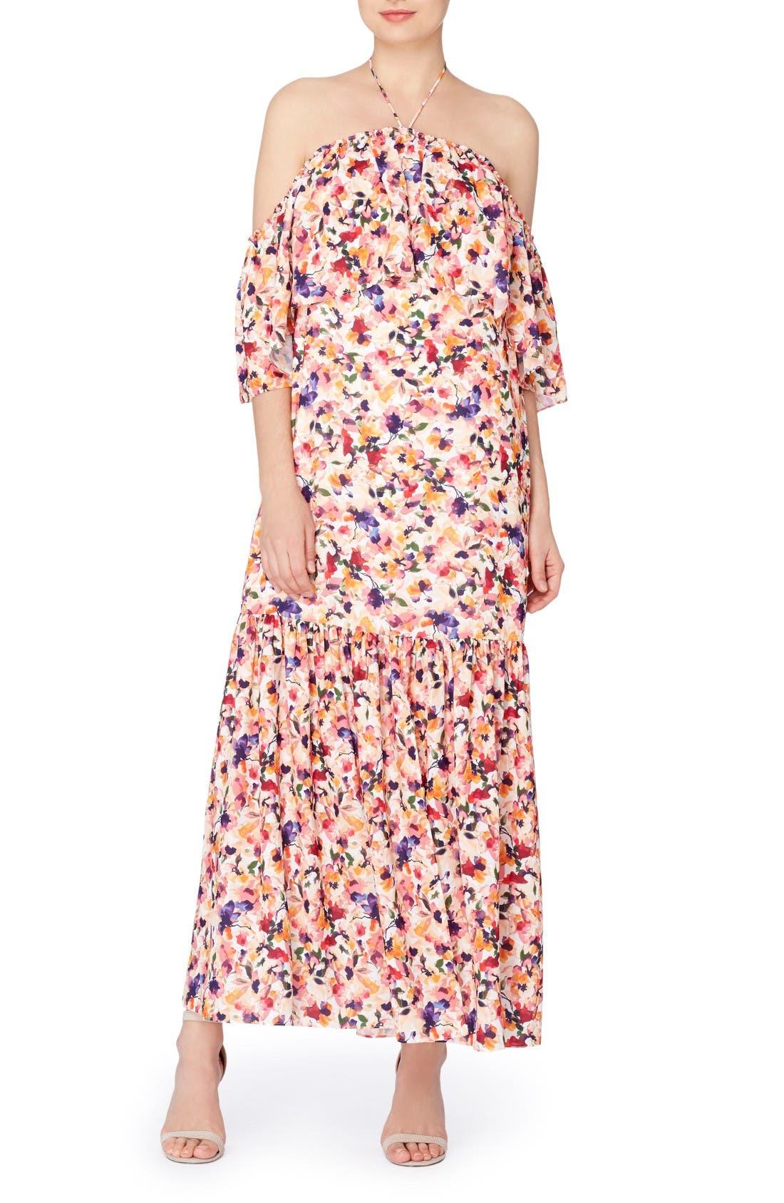 Catherine Catherine Malandrino Paxton Halter Maxi Dress