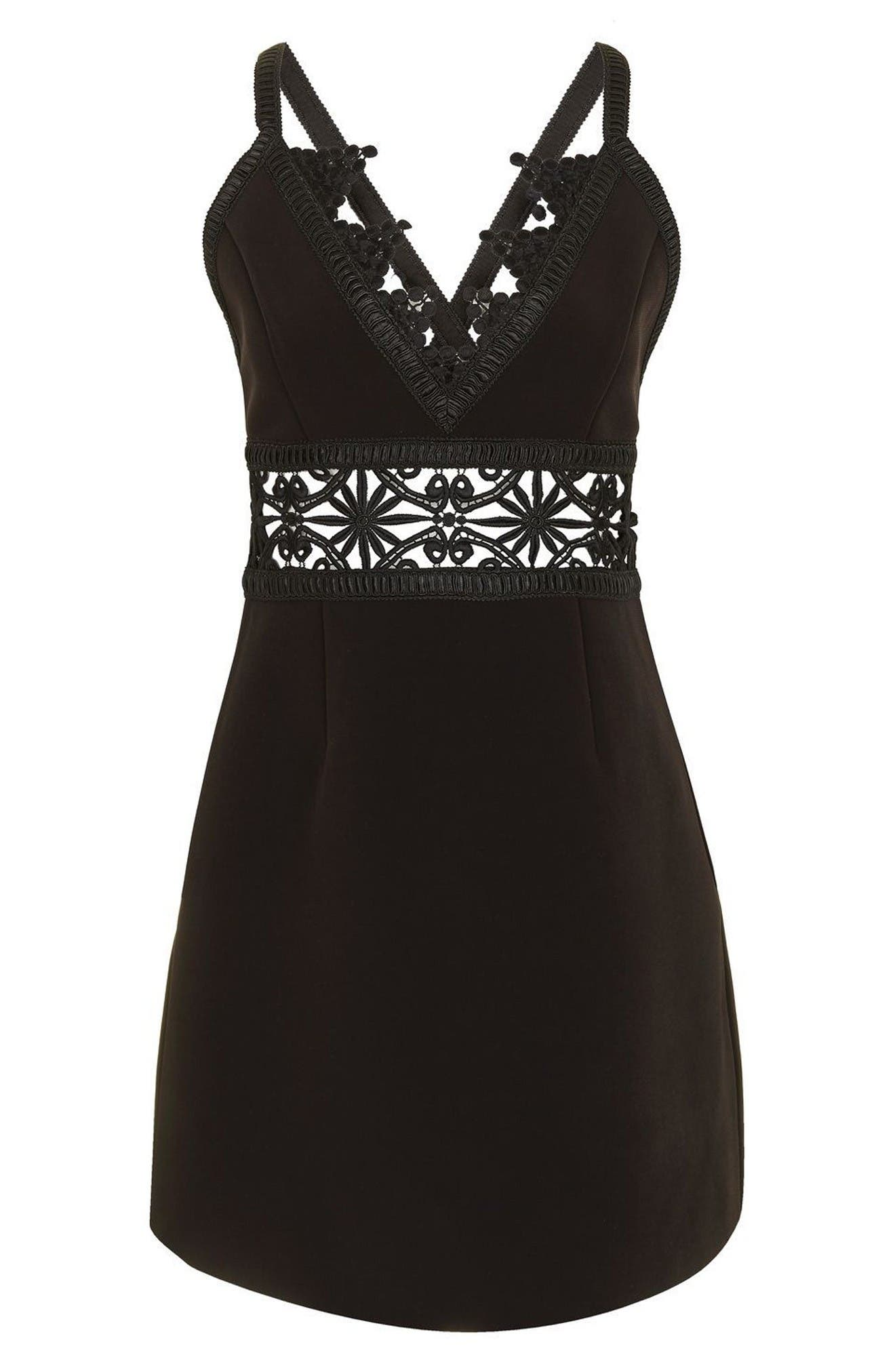 Alternate Image 4  - Topshop Lace Inset Minidress