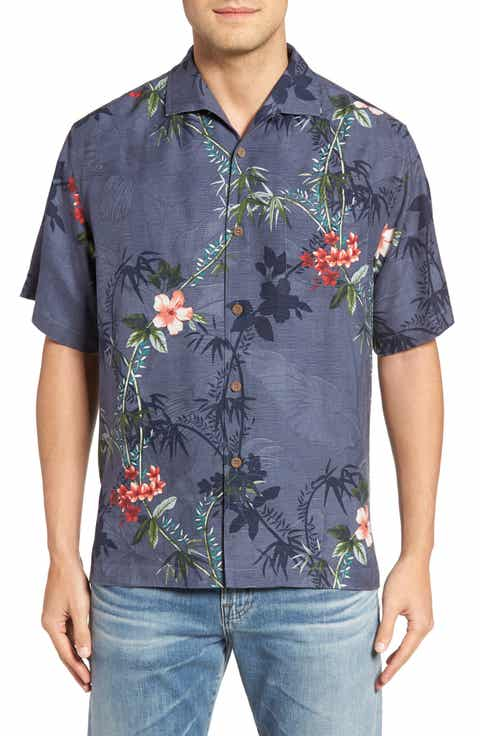 Tommy Bahama Volas Vineyard Silk Camp Shirt (Big   Tall)