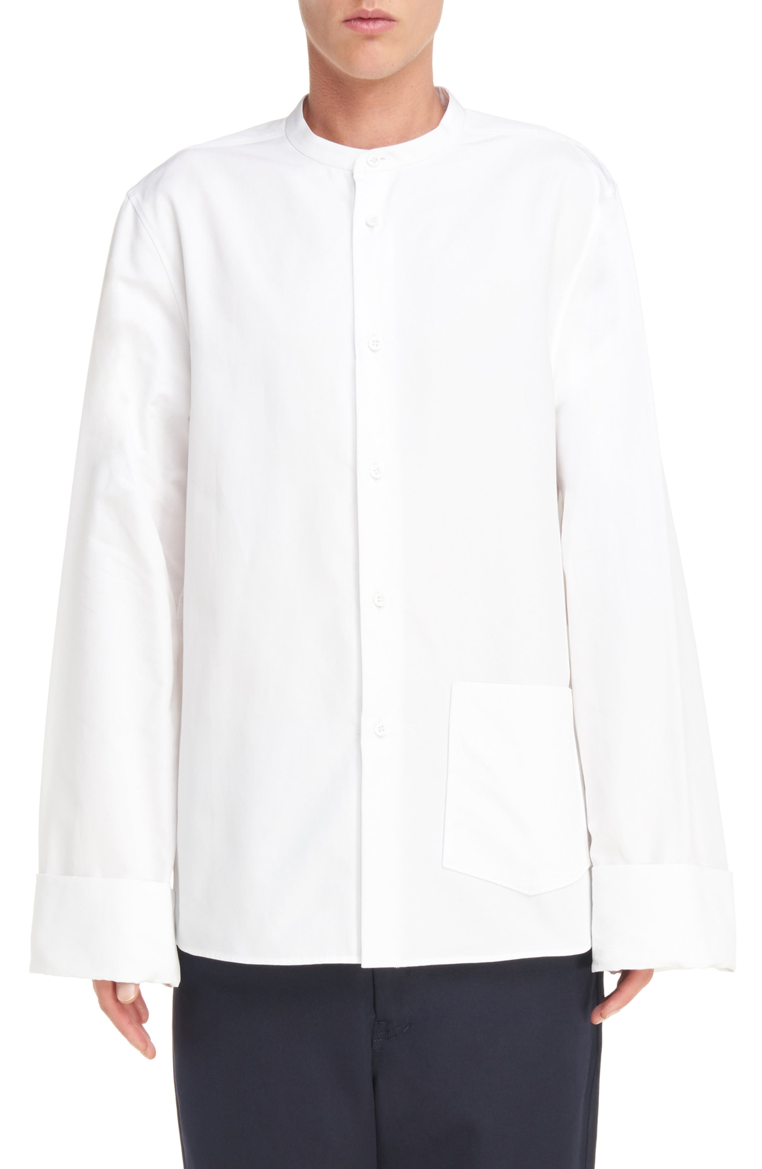 ACNE STUDIOS Maple Oversize Mandarin Collar Shirt
