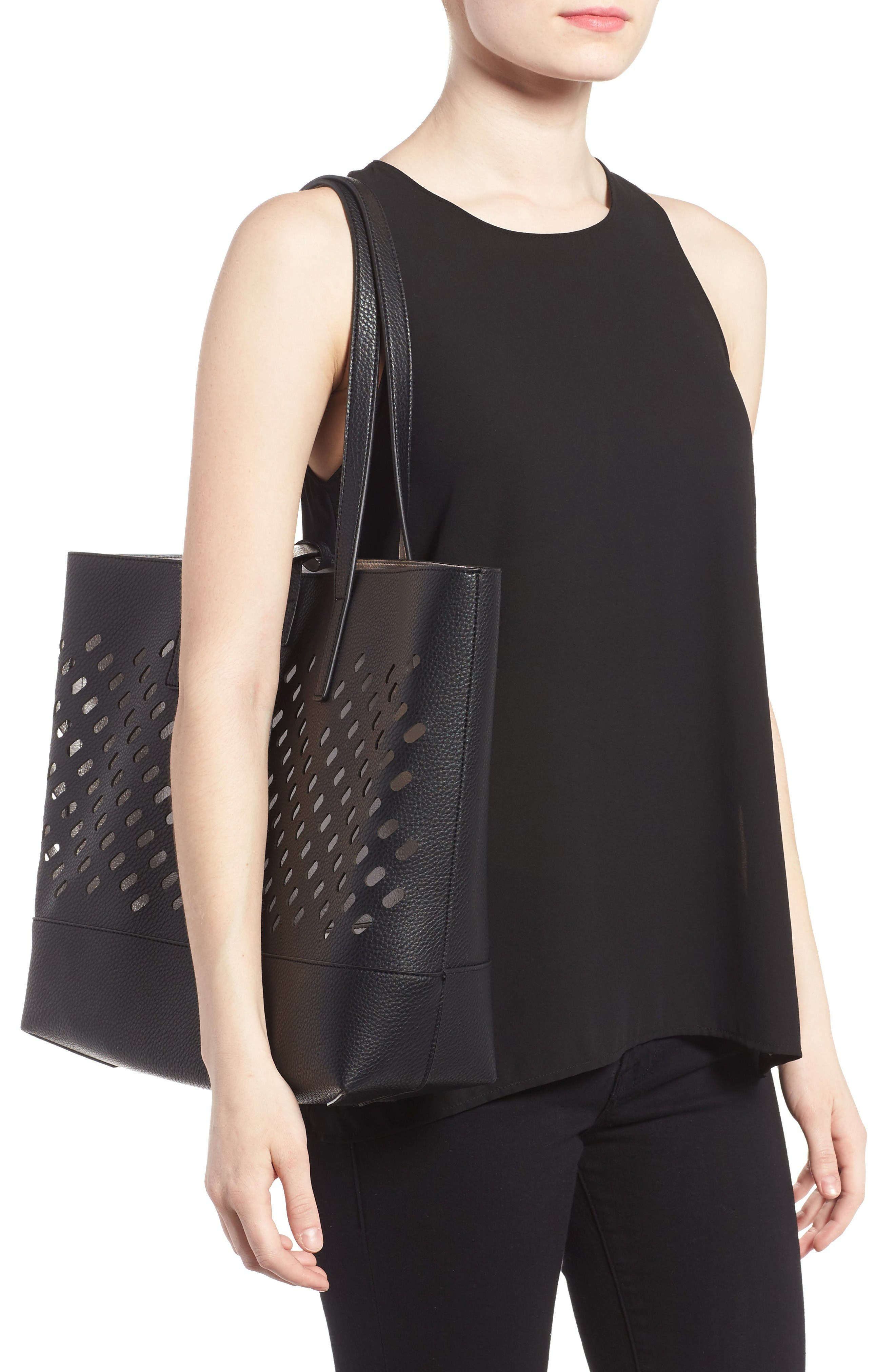 Alternate Image 6  - POVERTY FLATS by rian Reversible Faux Leather Tote