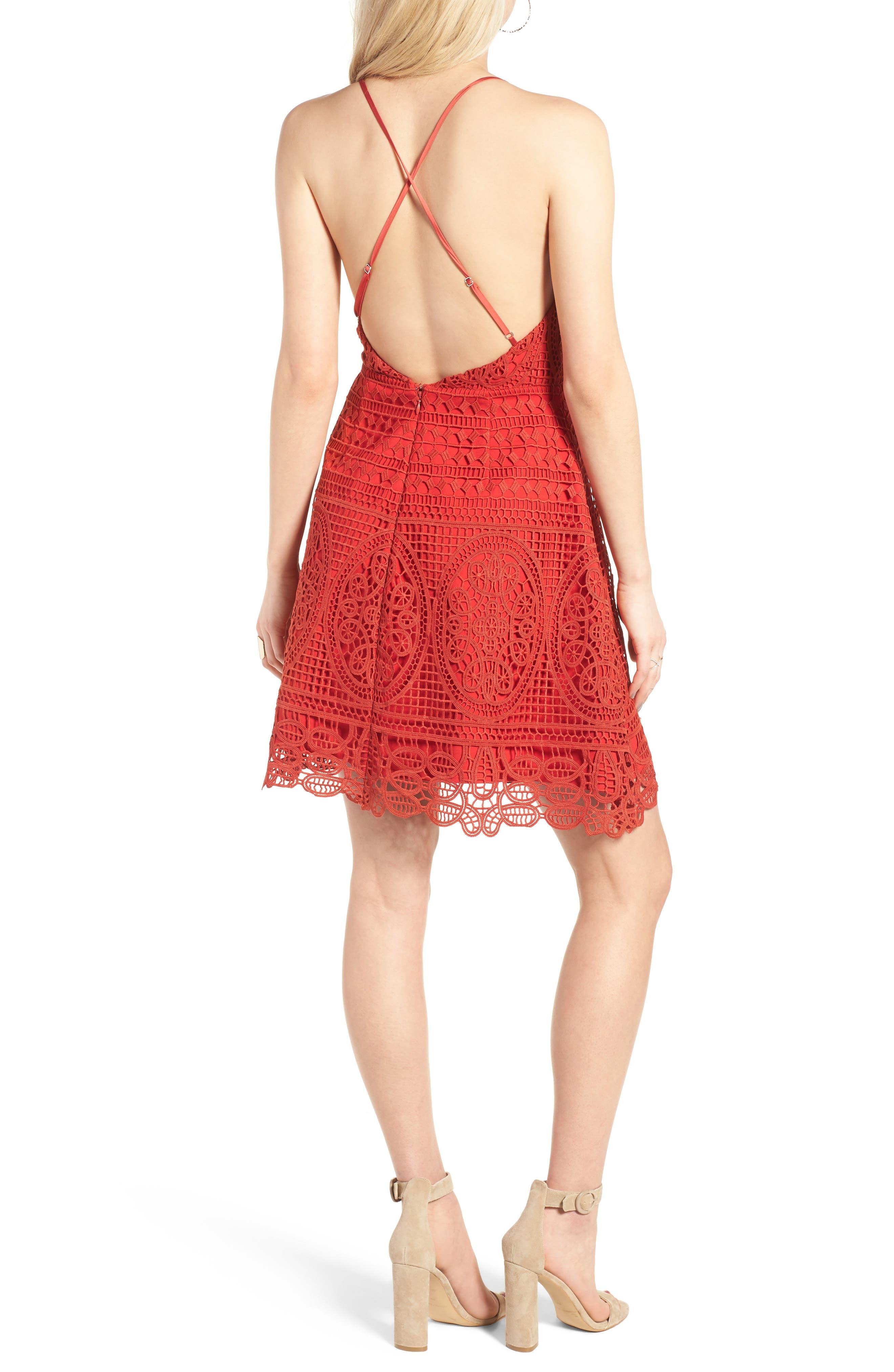 Alternate Image 3  - Lovers + Friends Orchard Crochet Minidress