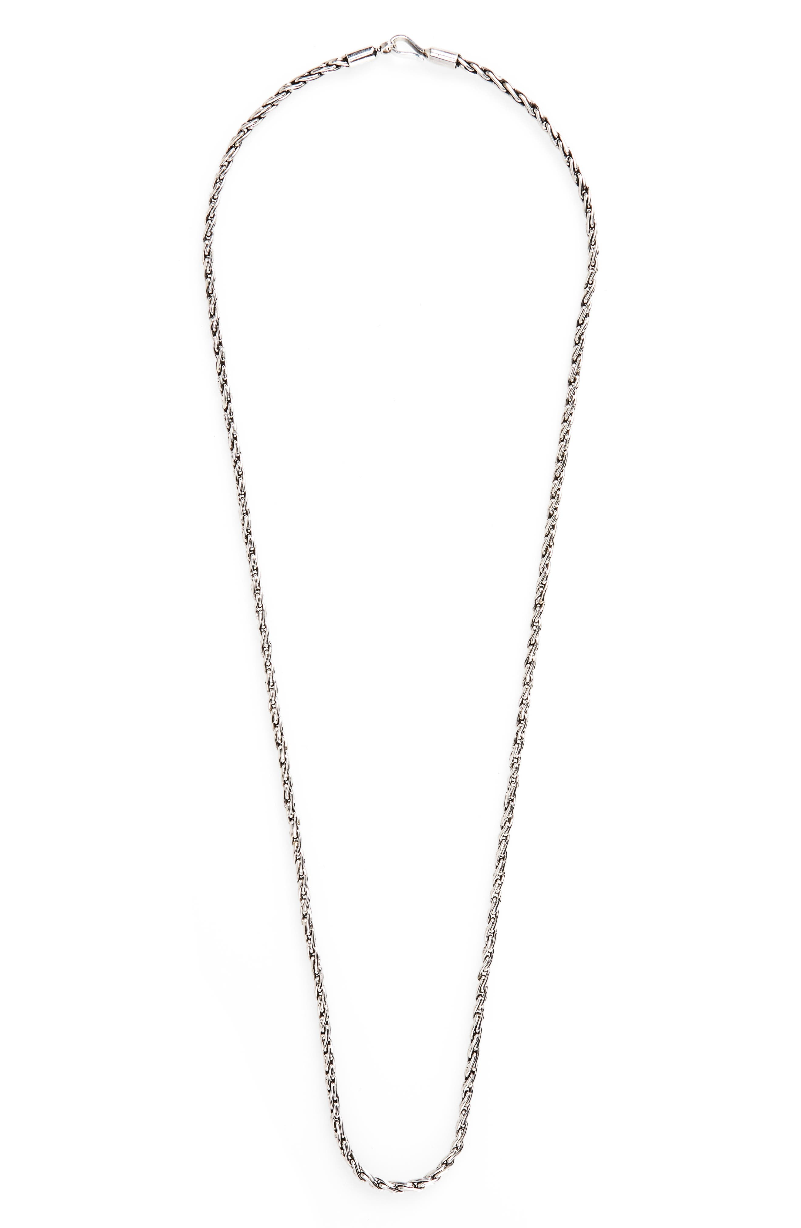 Main Image - Caputo & Co. Sterling Silver Rope Chain Necklace