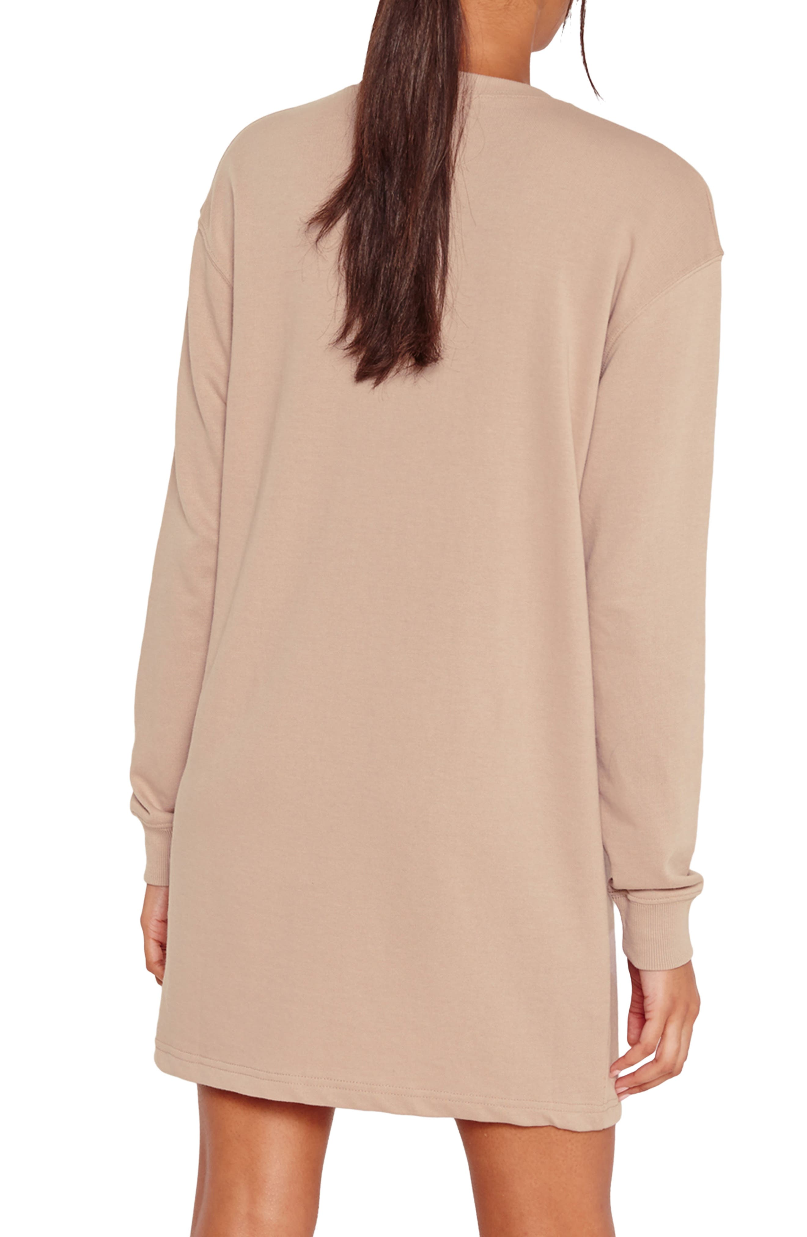 Alternate Image 2  - Missguided Ripped Oversize Knit Dress