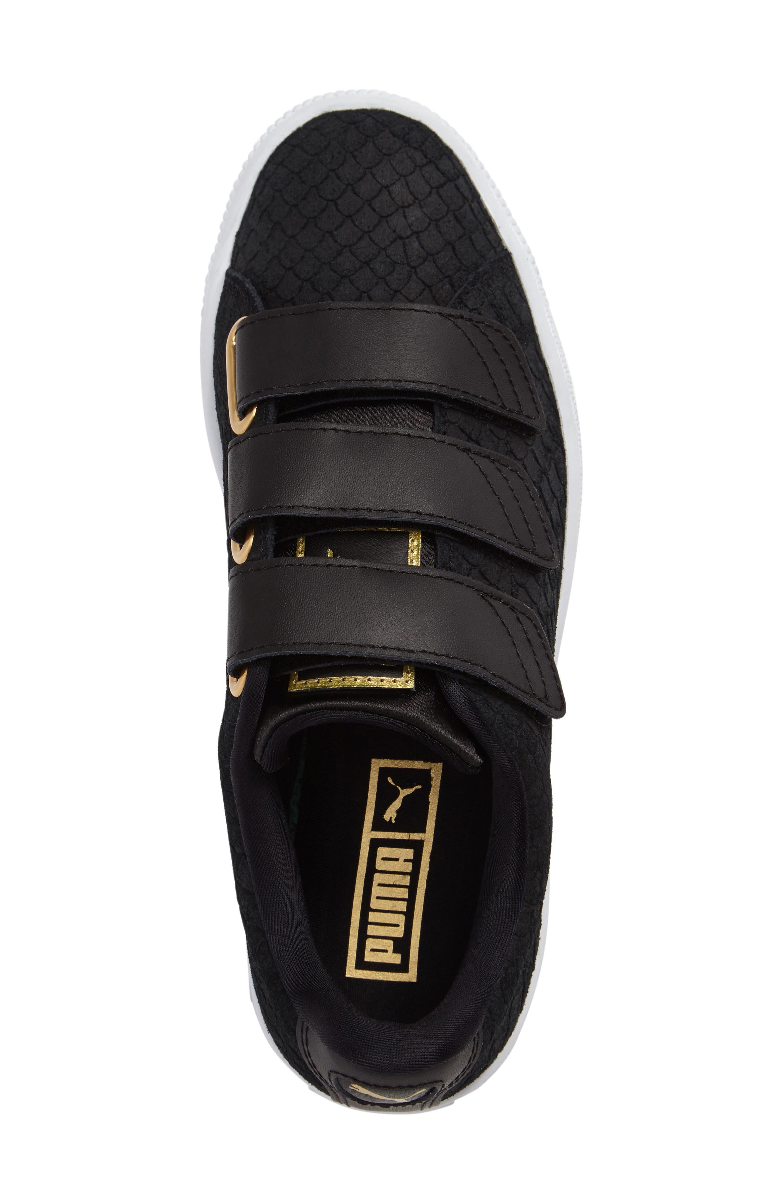Alternate Image 3  - PUMA Basket Strap ExoticSkin Sneaker (Women)