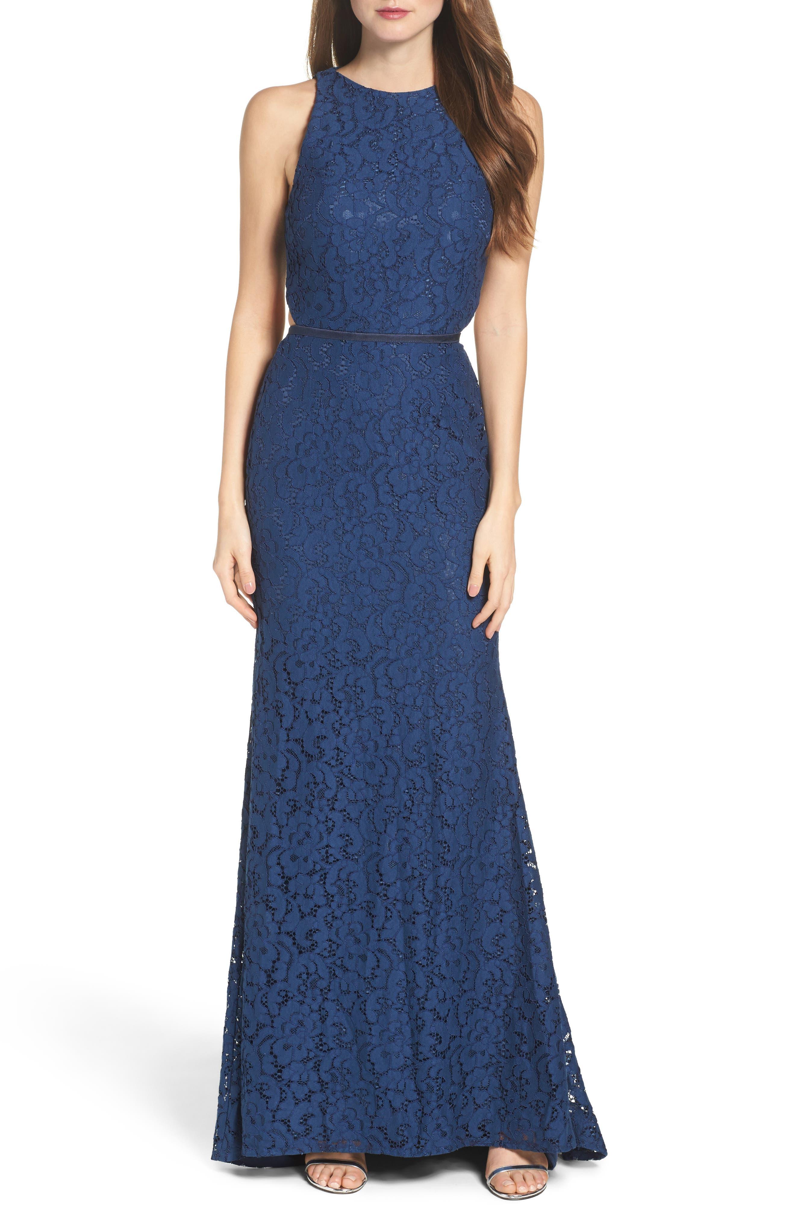 Main Image - Mac Duggal Cutout Lace Gown