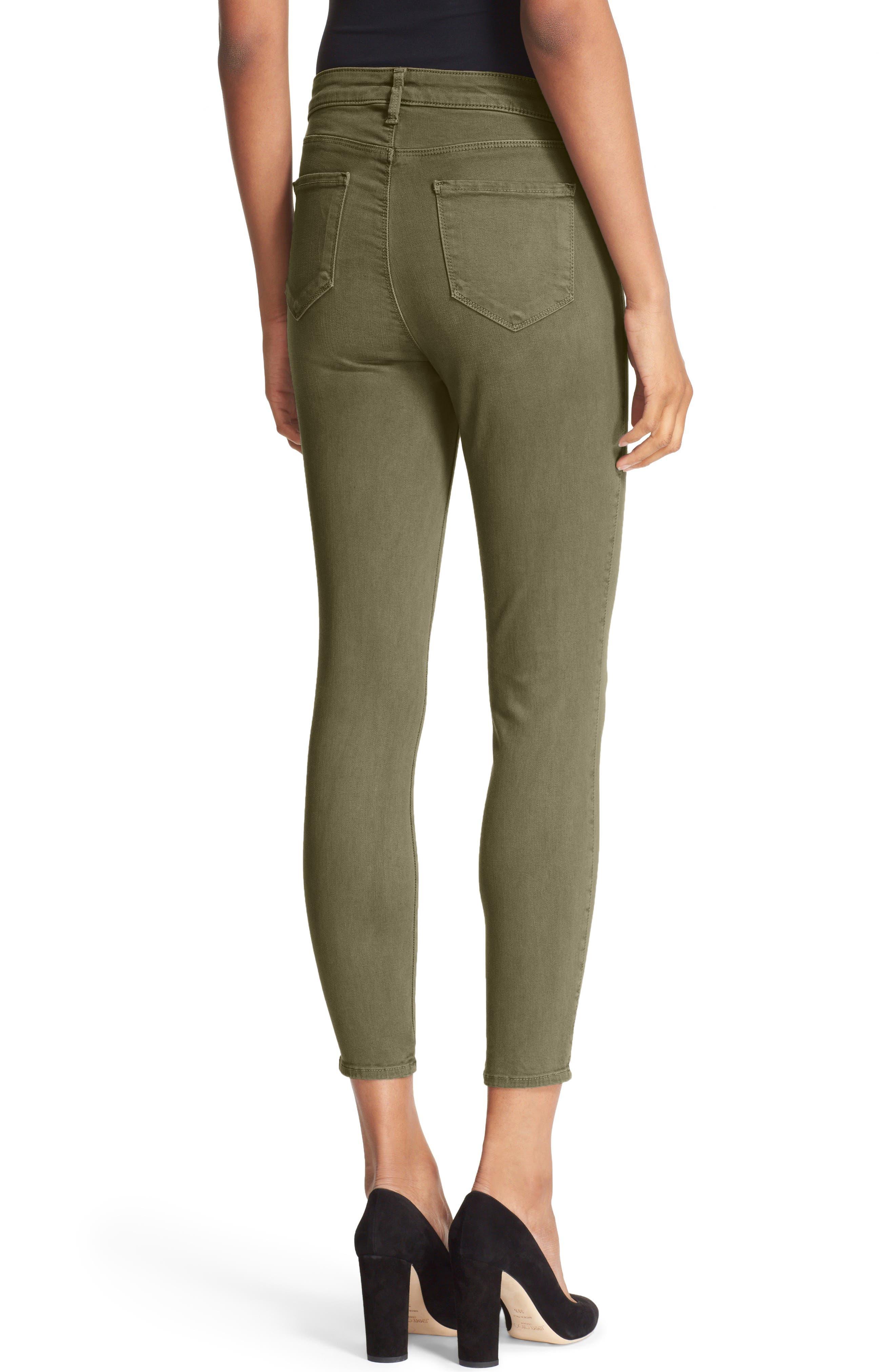 Alternate Image 2  - L'AGENCE High Waist Skinny Ankle Jeans