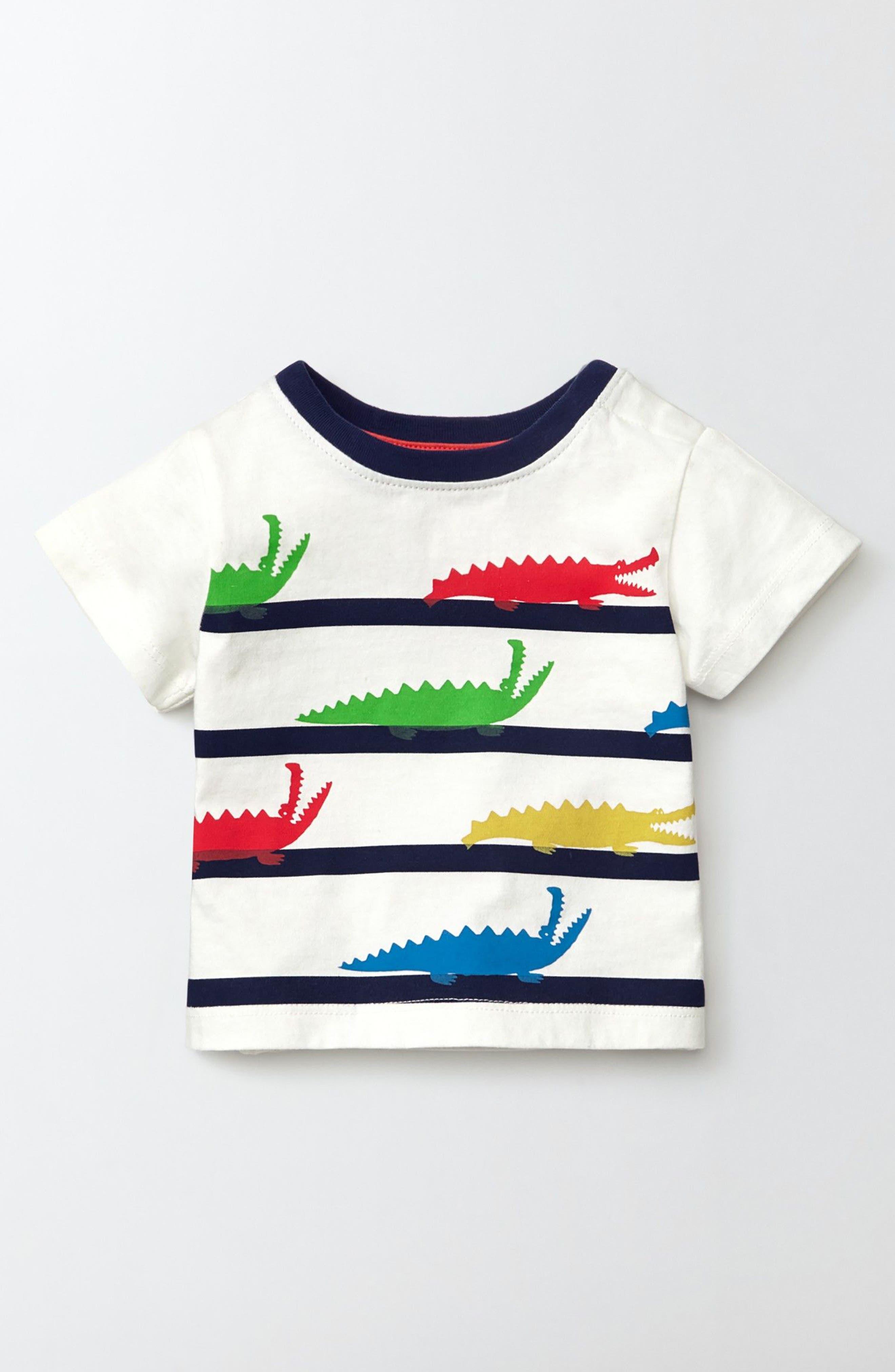 Mini Boden Summer Stripy T-Shirt (Baby)
