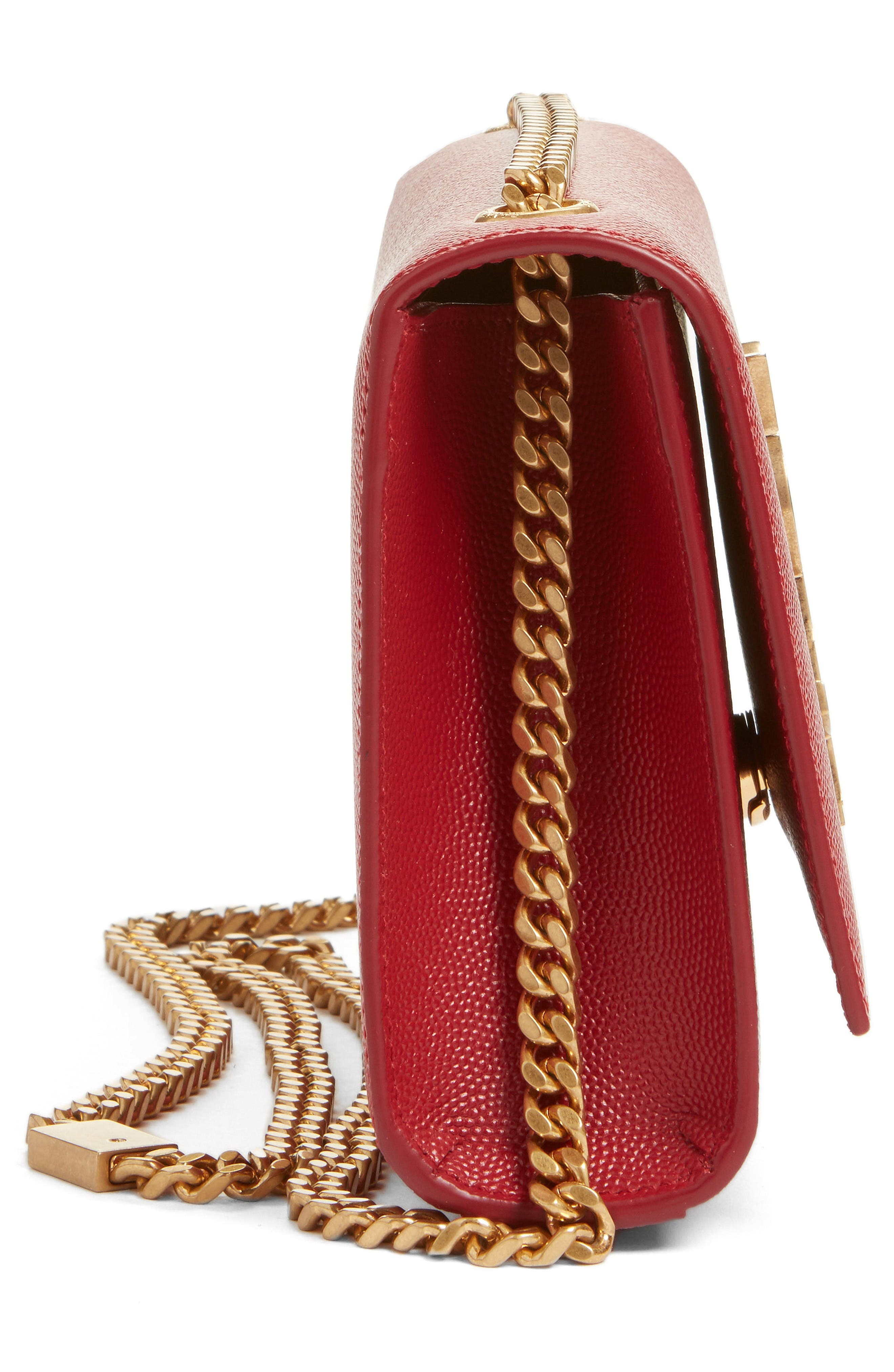 Alternate Image 4  - Saint Laurent Small Kate Calfskin Leather Crossbody Bag