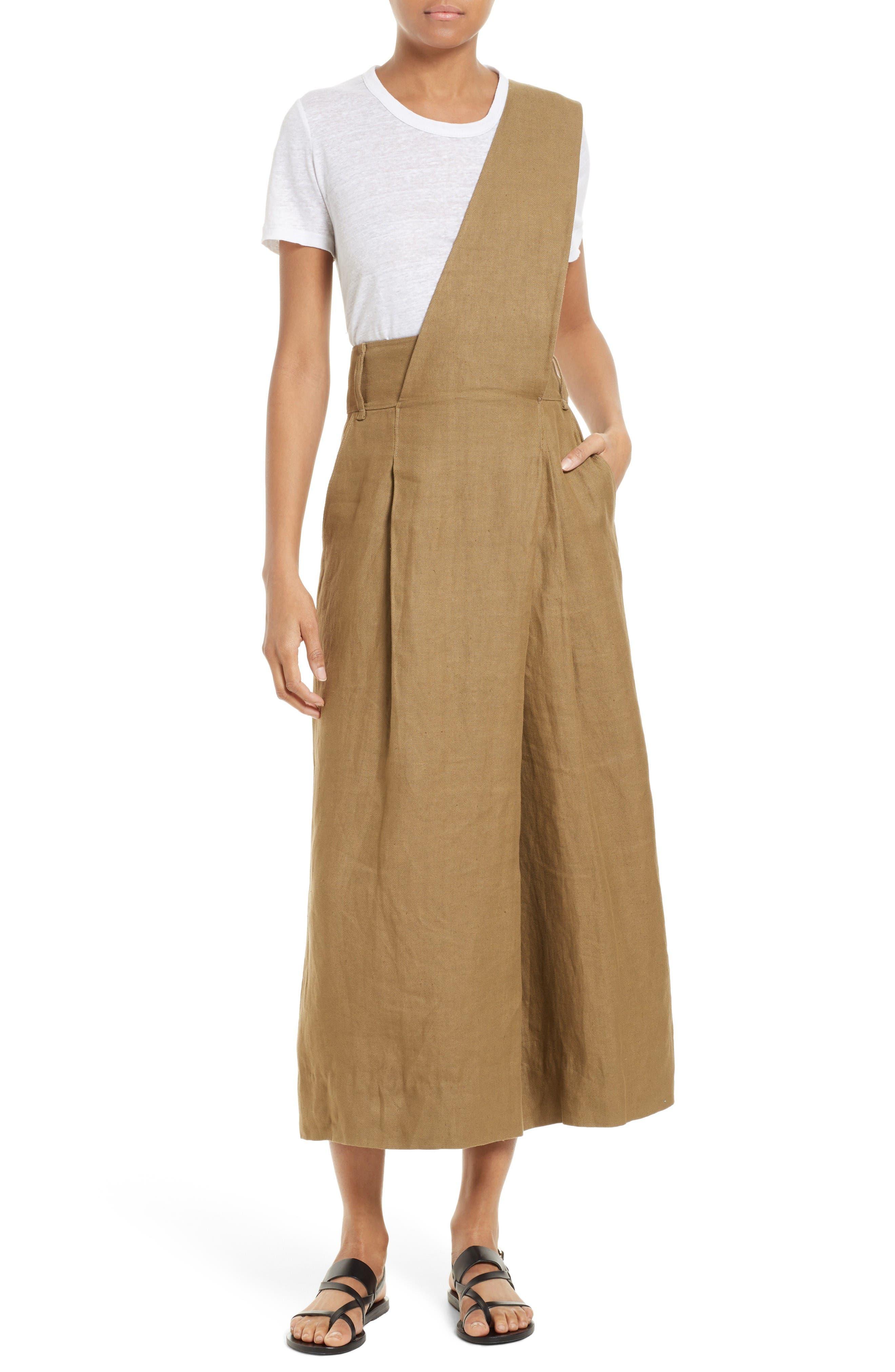 Main Image - Tibi Hessian Linen Jumpsuit