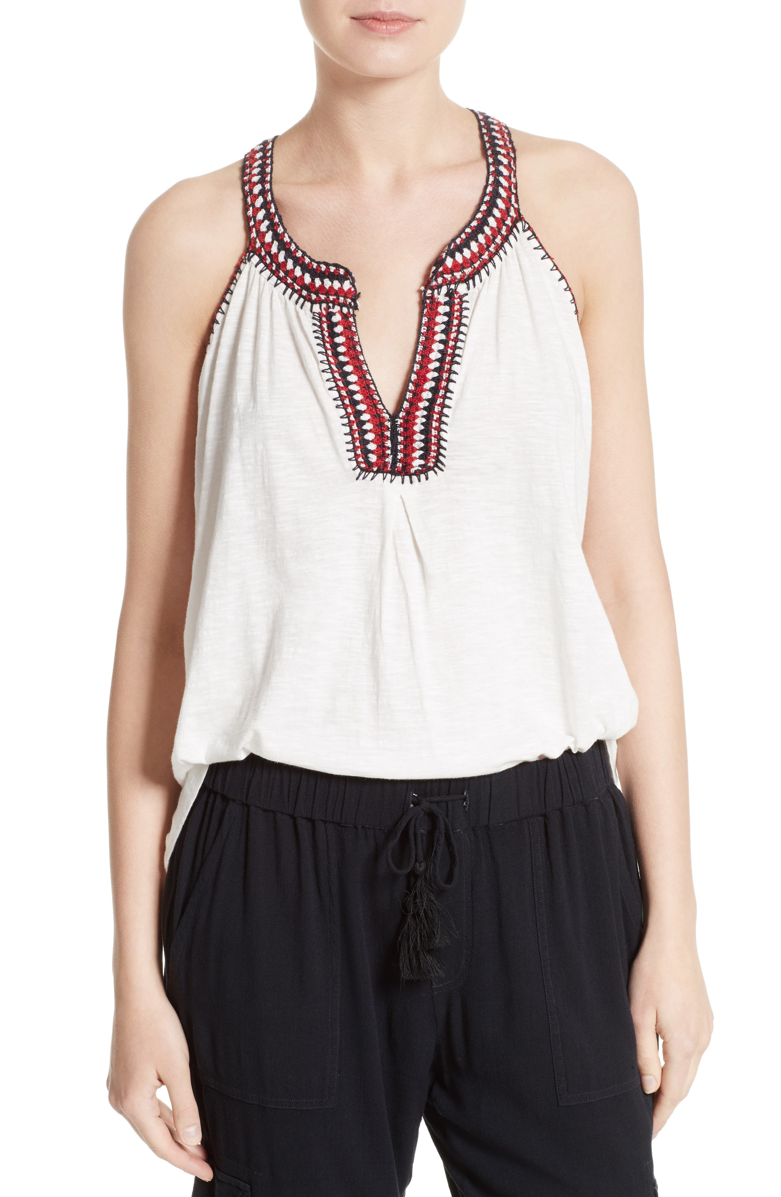 Soft Joie Yvanna Embroidered Top