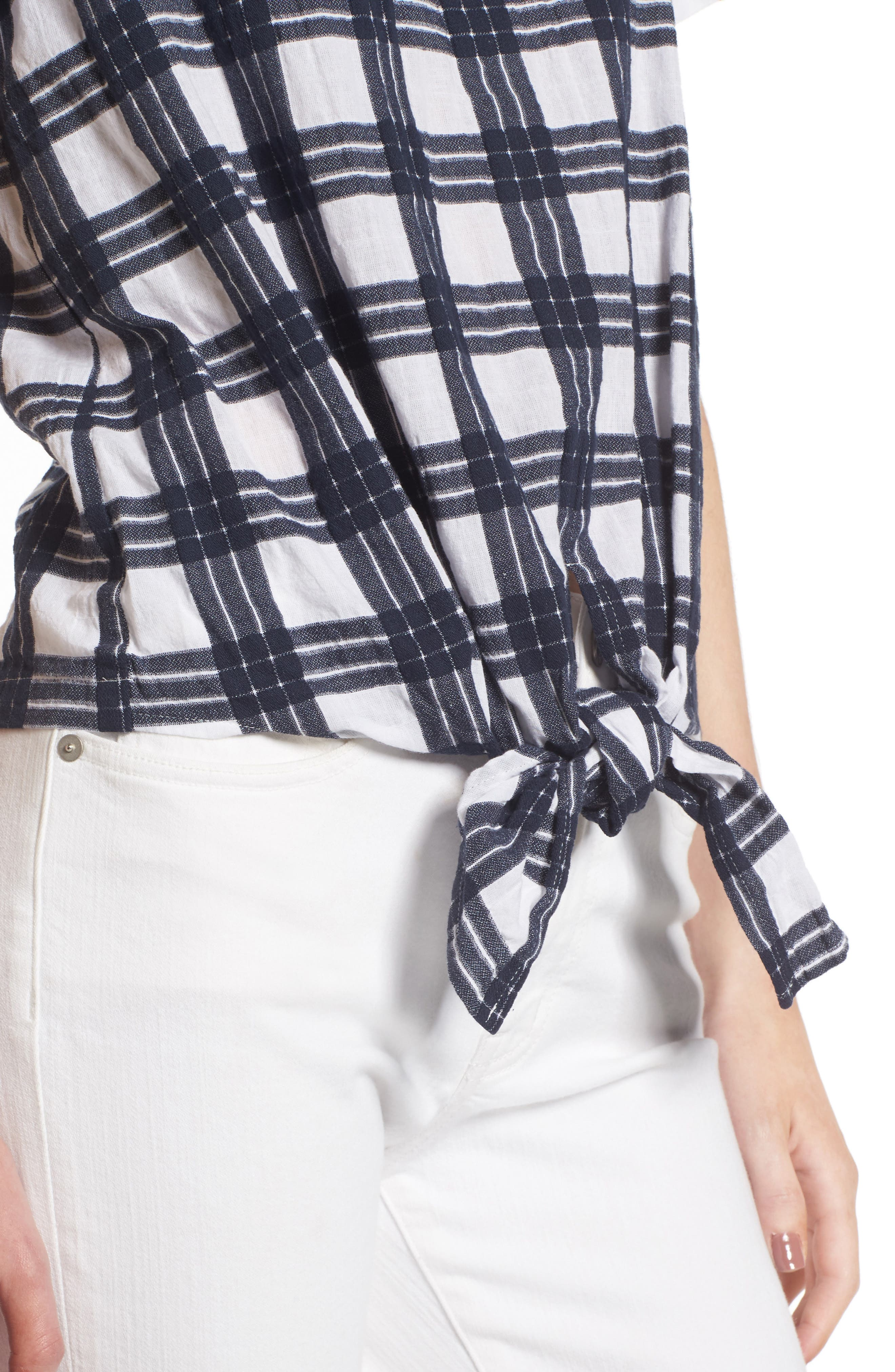 Alternate Image 4  - Madewell Plaid Tie Front Blouse