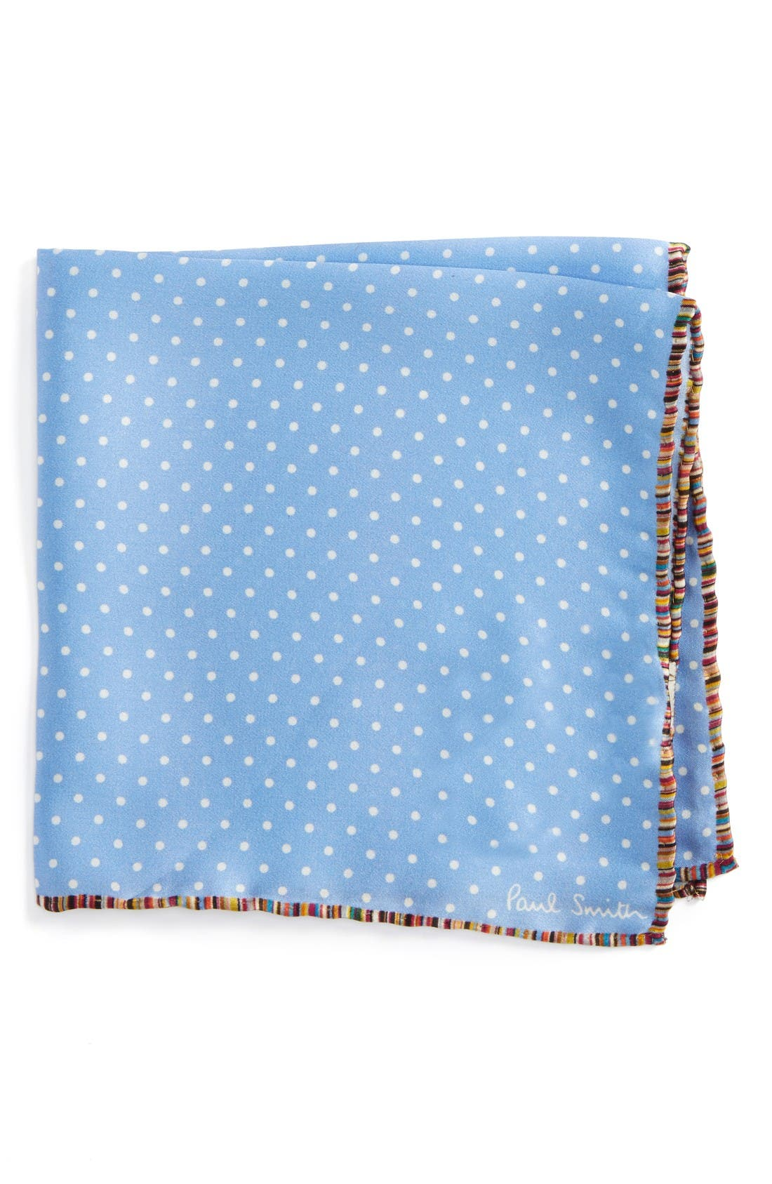 PAUL SMITH Pindot Silk Pocket Square