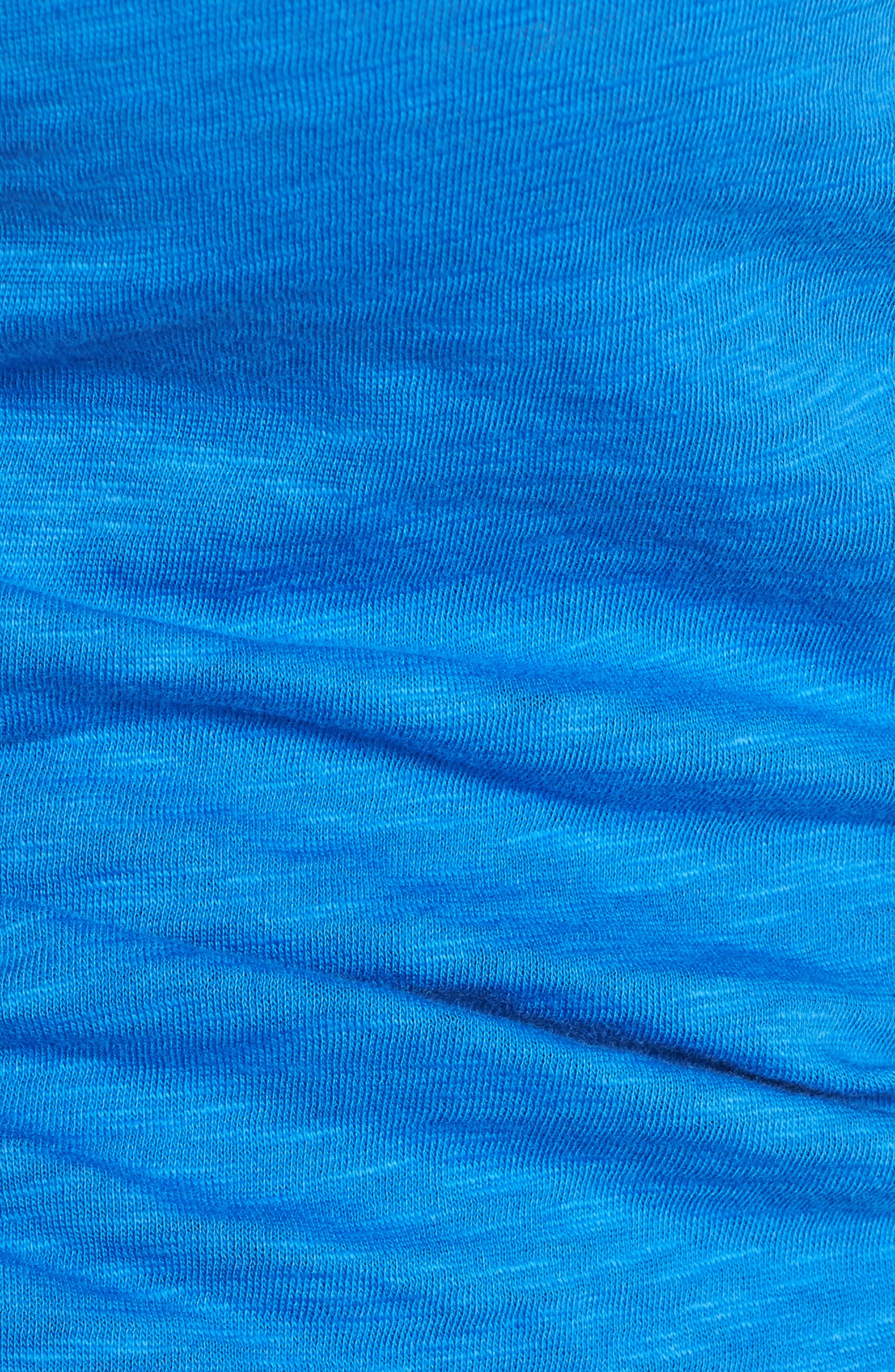 Alternate Image 5  - Caslon® Shirred V-Neck Tee (Regular & Petite)