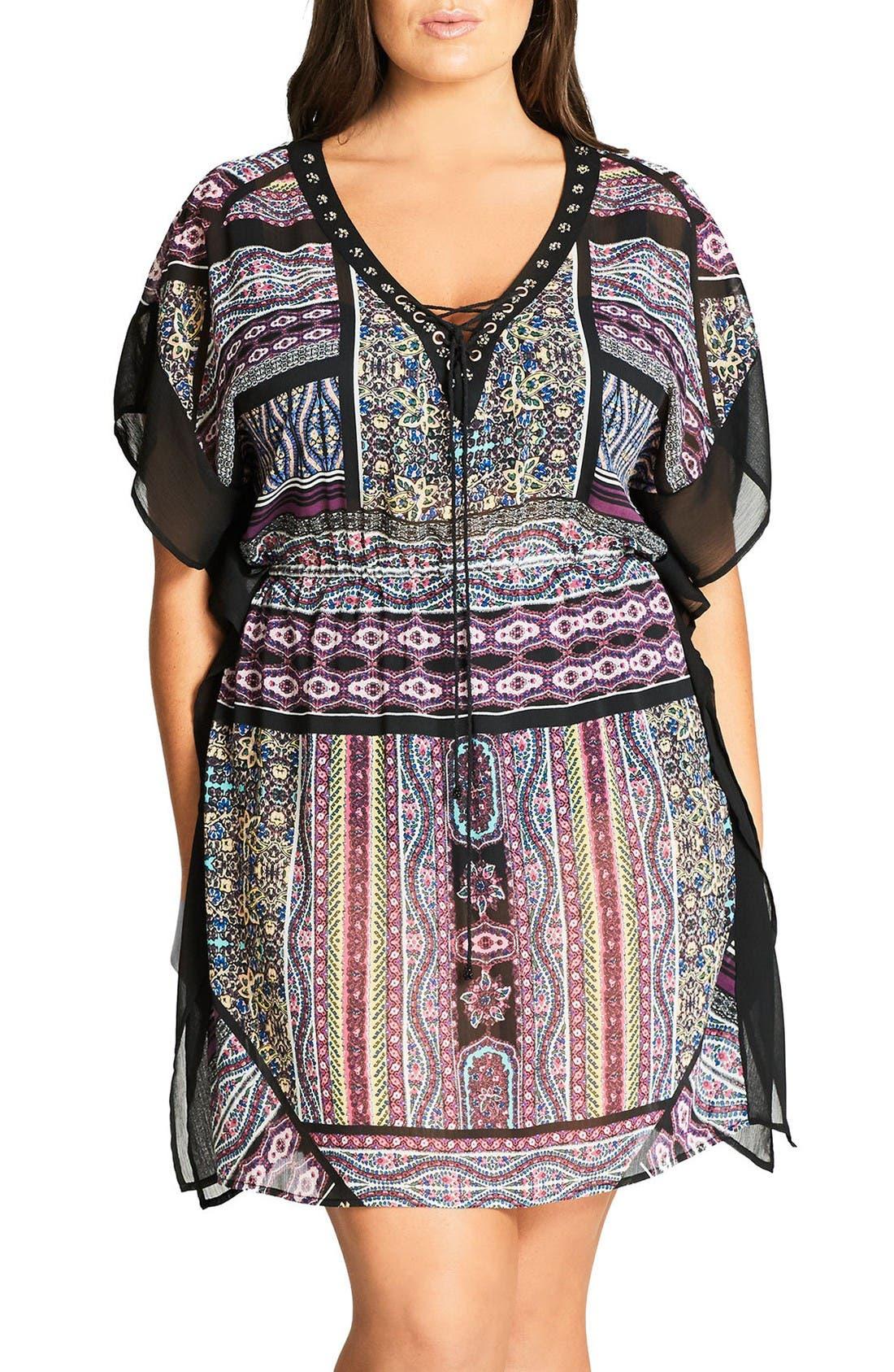 City Chic Boho Caftan Tunic (Plus Size)